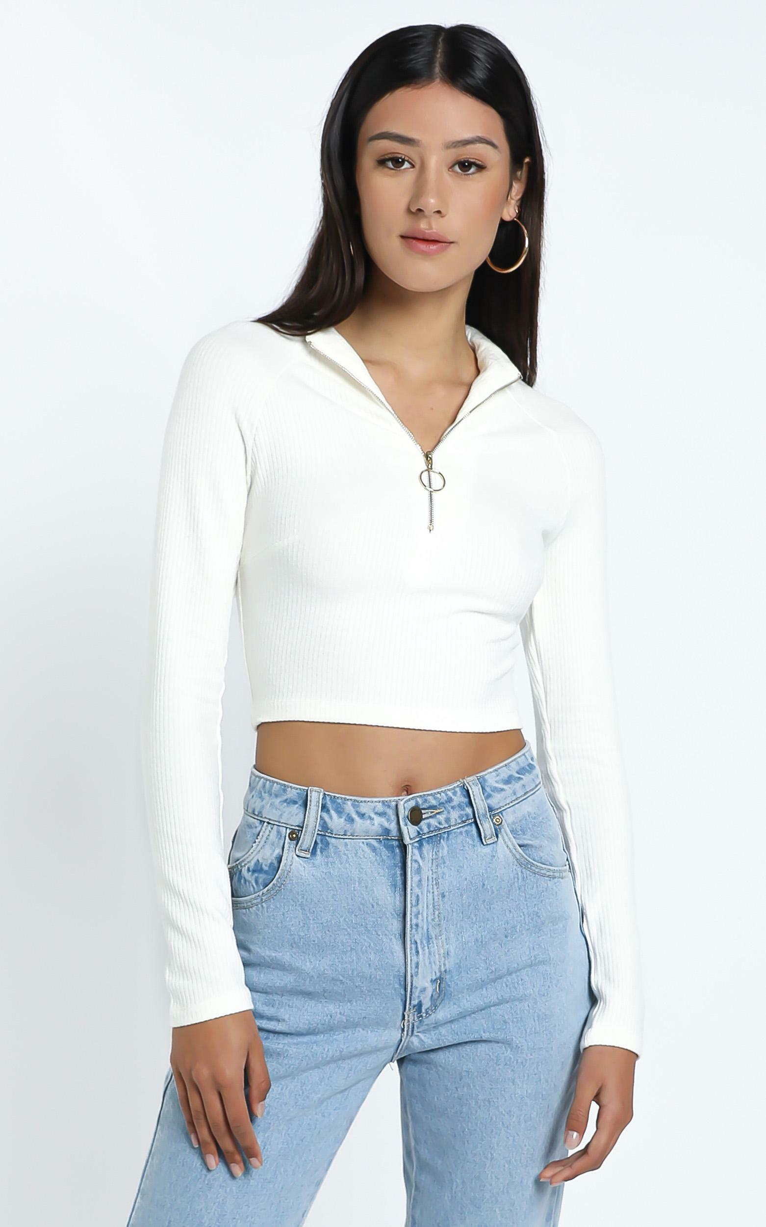 Milner Top in White - 14 (XL), WHT1, hi-res image number null