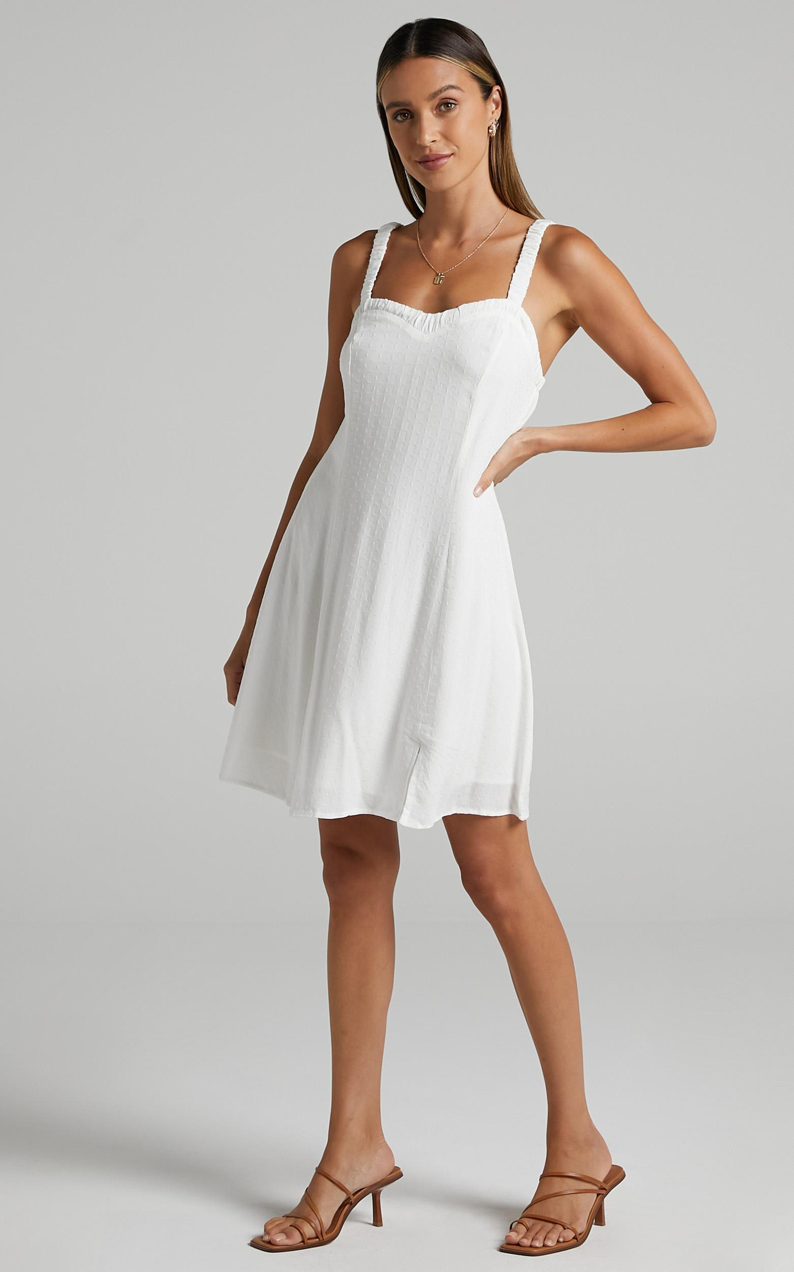 Brie Dress in White - 6 (XS), White, hi-res image number null