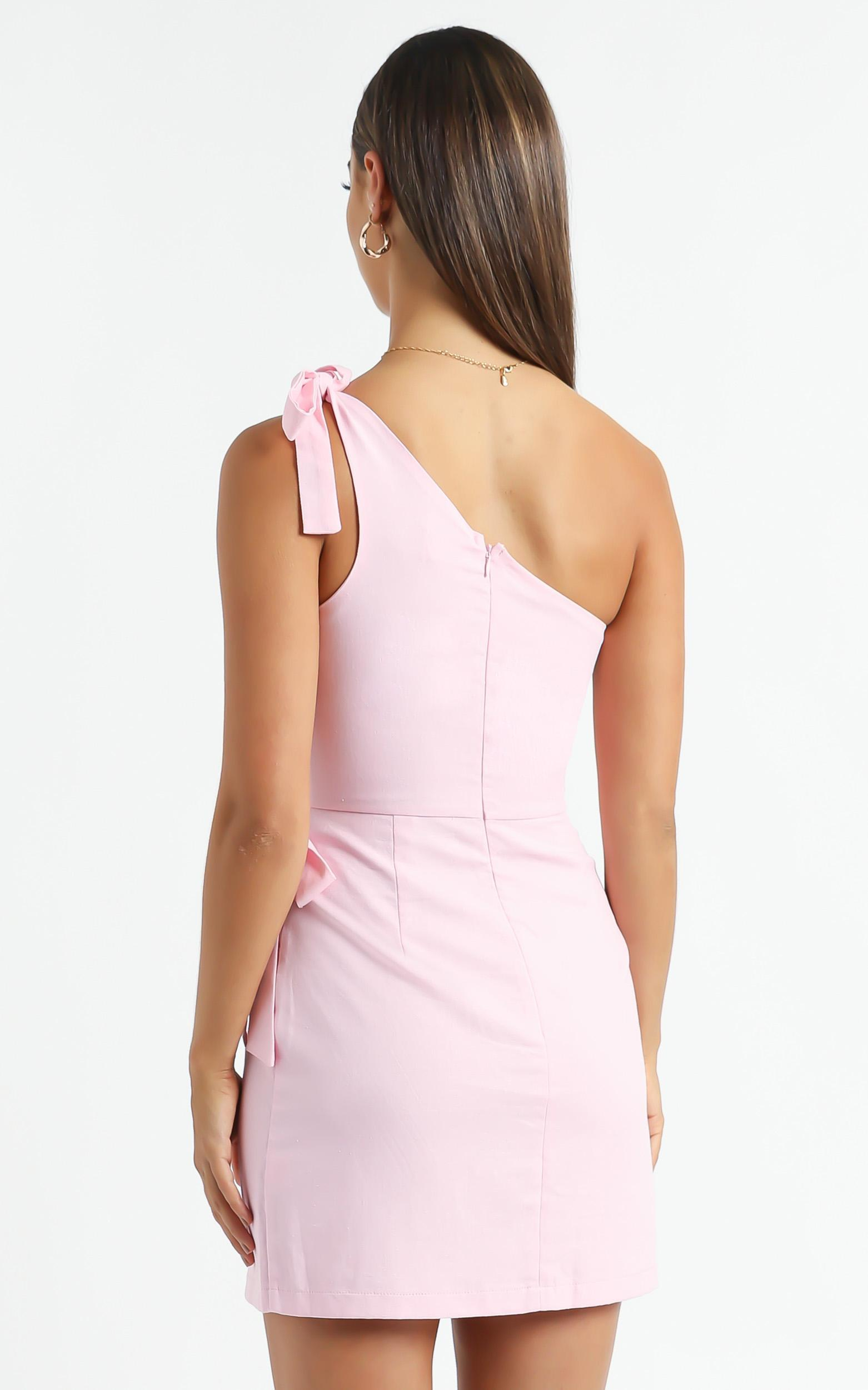 Keeping it together dress in Pink Linen Look - 6 (XS), PNK1, hi-res image number null