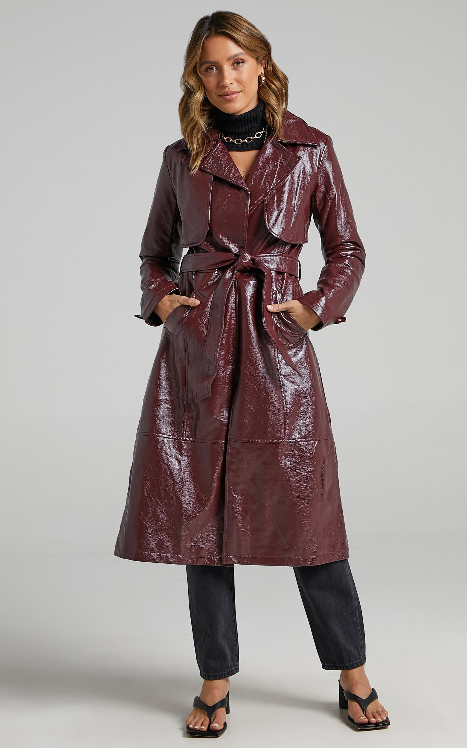 Unsolved Mystery Trench Coat in aubergine - 6 (XS), WNE2, hi-res image number null