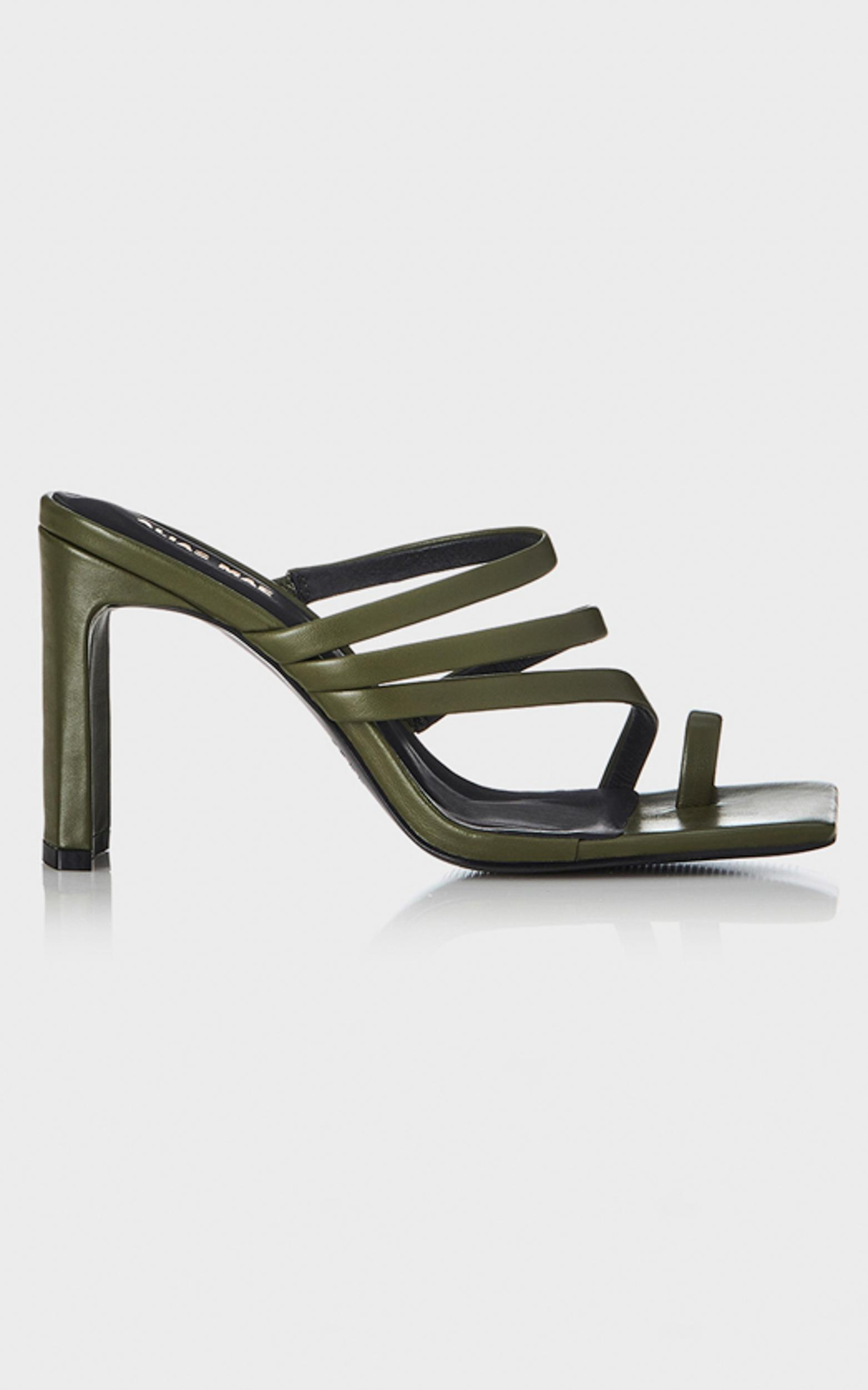 Alias Mae - Carrie Heels in Olive Leather - 5.5, Green, hi-res image number null