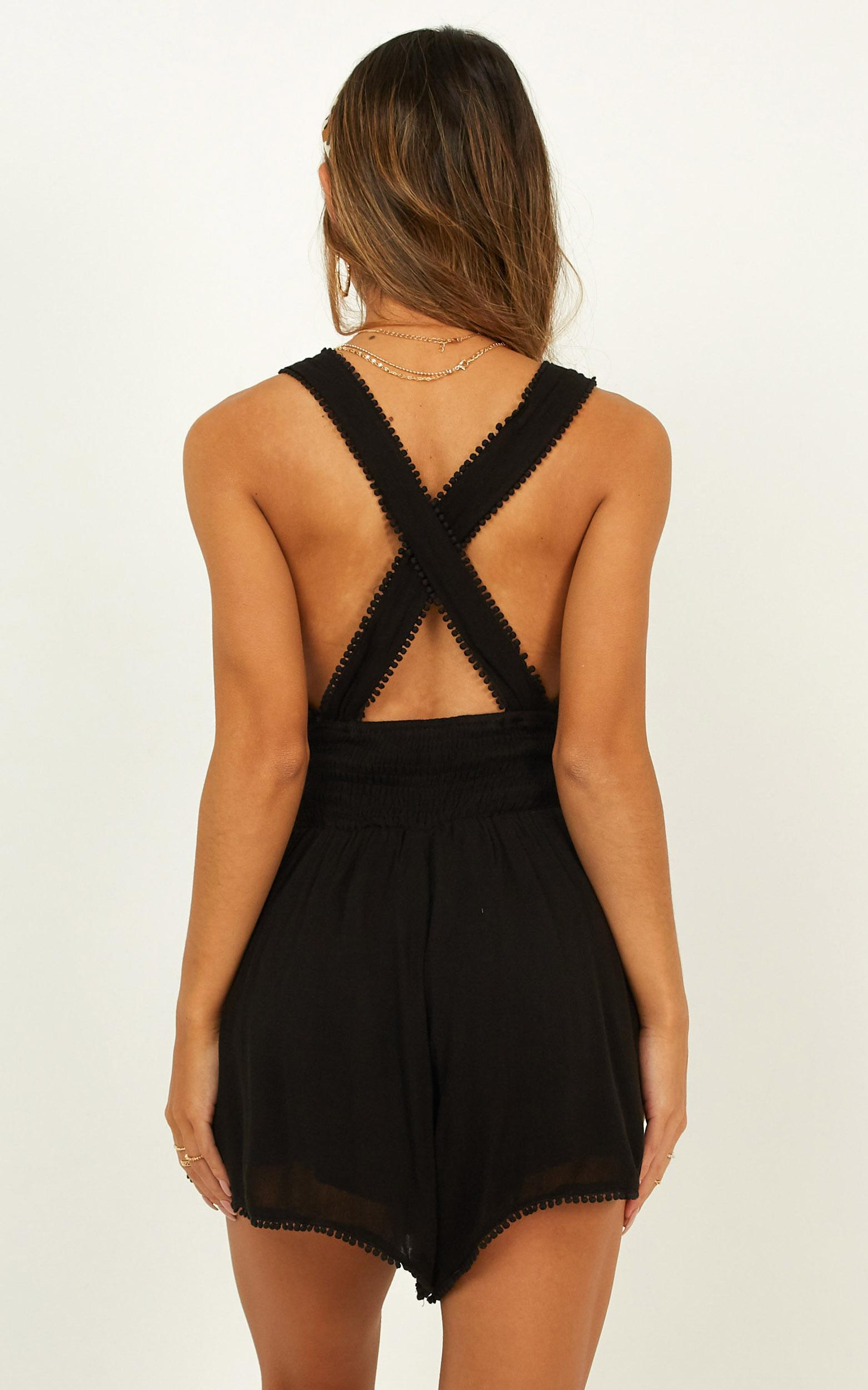 sing with me playsuit in black - 20 (XXXXL), Black, hi-res image number null