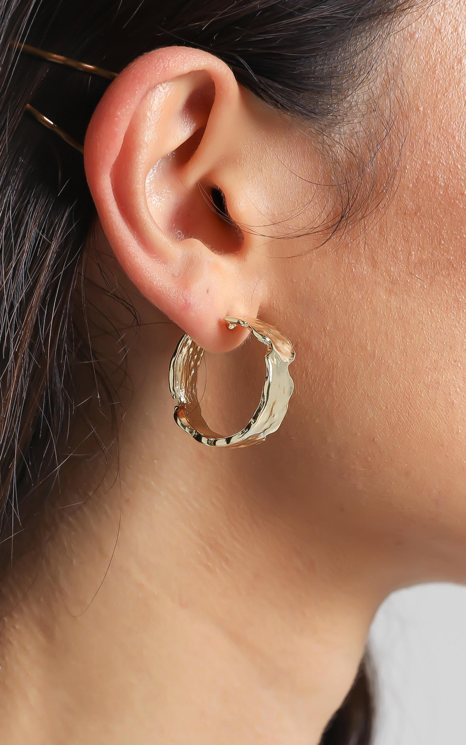 Billini - Behati Gold Plated Earrings in Gold, , hi-res image number null