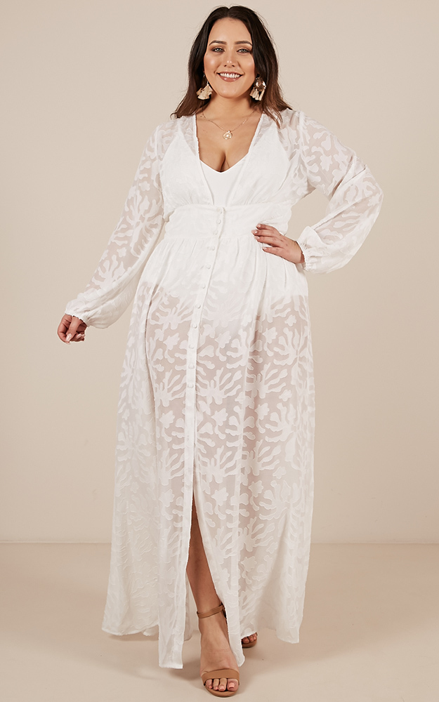 Chantilly Maxi Dress in white - 20 (XXXXL), White, hi-res image number null