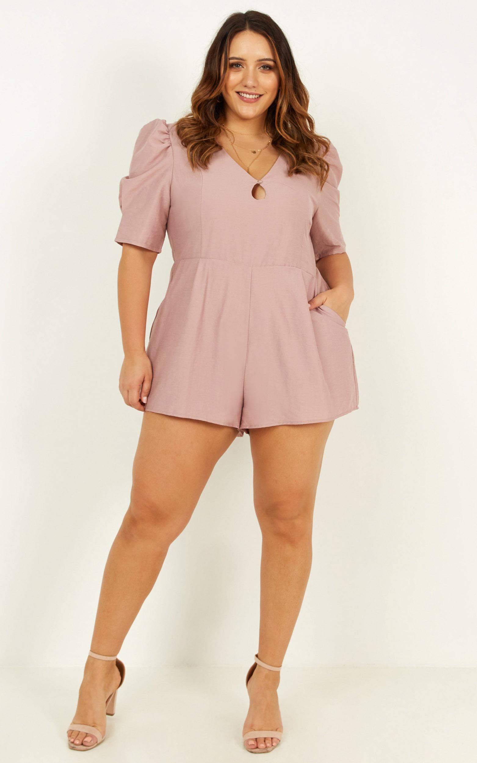 Sneaking Around Playsuit in dusty rose - 18 (XXXL), Pink, hi-res image number null