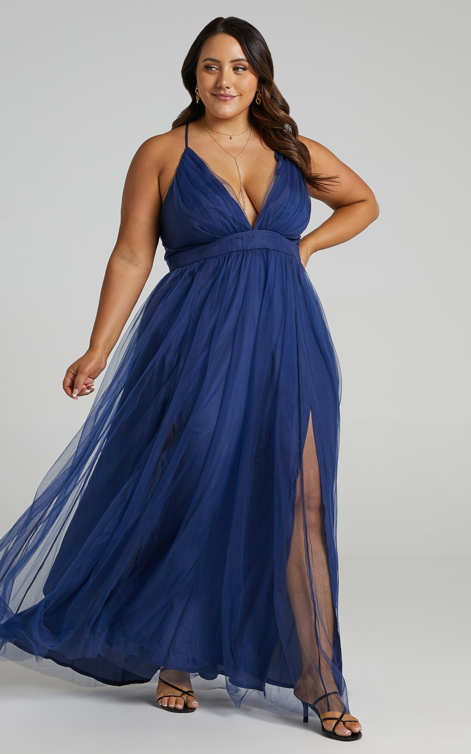 Tell Me Lies Dress in Navy Tulle - 04, NVY3, hi-res image number null