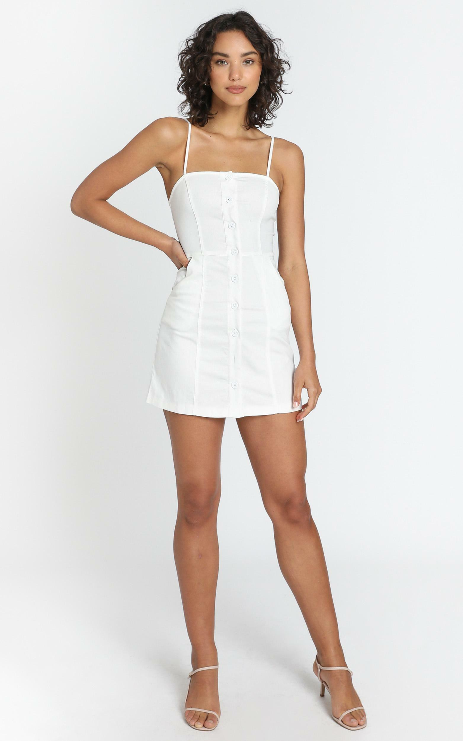 Fleur Dress in White - 6 (XS), White, hi-res image number null
