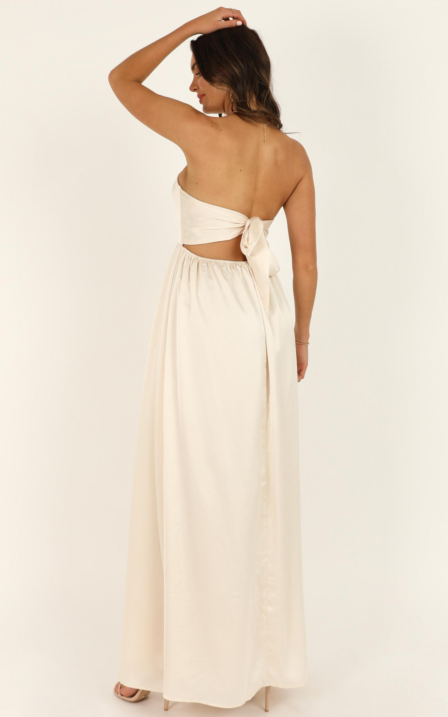 Permission To Love Dress in champagne satin - 18 (XXXL), Beige, hi-res image number null