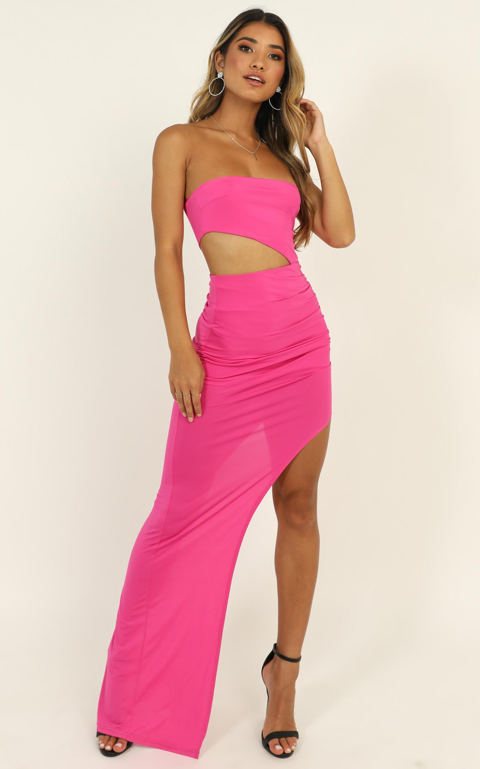 Pretty Young Thing Maxi Dress in hot pink - 14 (XL), Pink, hi-res image number null