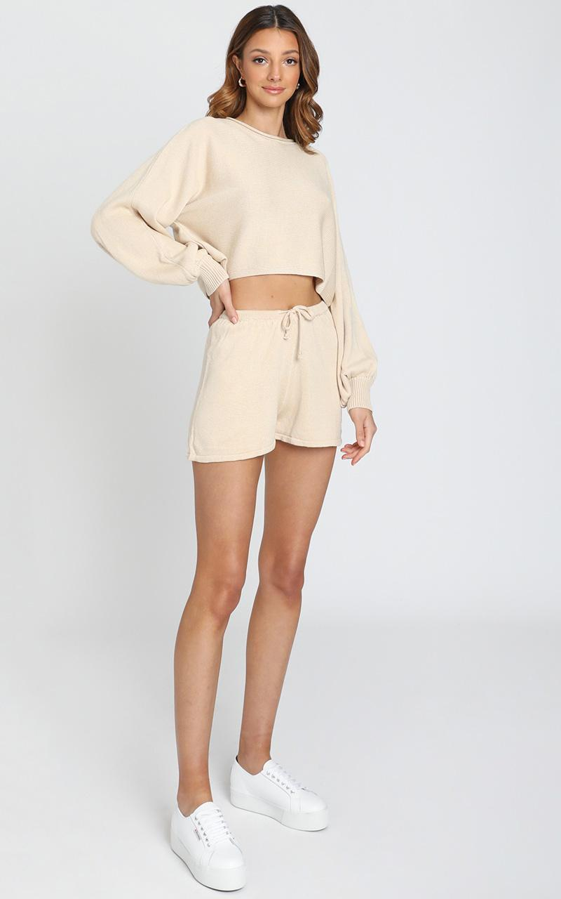 Hartley Knitted Jumper in Oatmeal - 8 (S), Cream, hi-res image number null