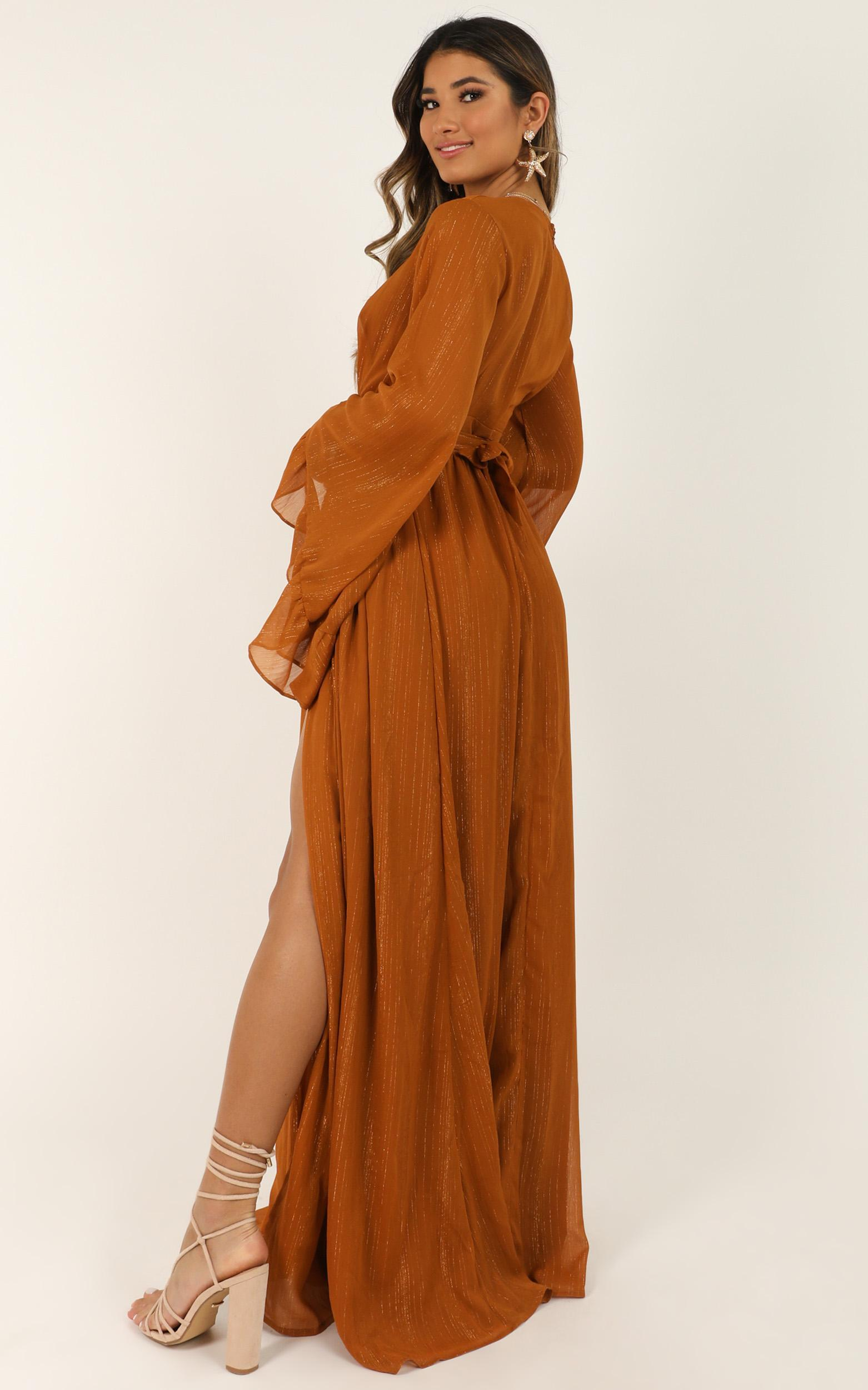 Dangerous Woman Dress In Rust - 20 (XXXXL), Rust, hi-res image number null