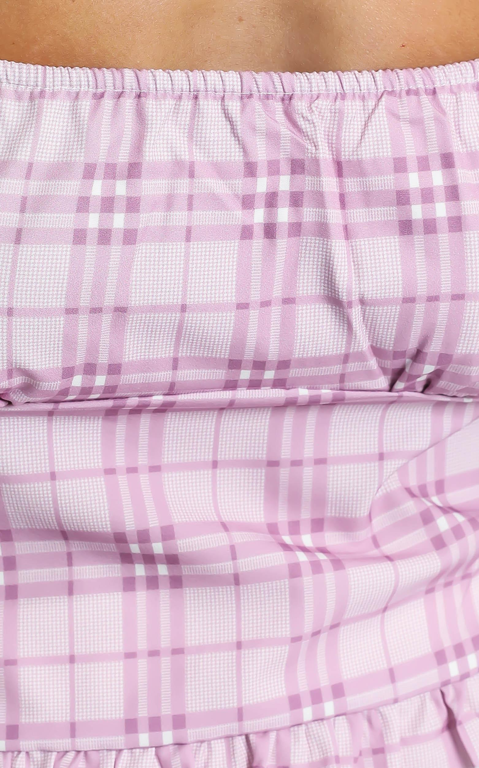 Marianna Top in Pink Check - 8 (S), Pink, hi-res image number null