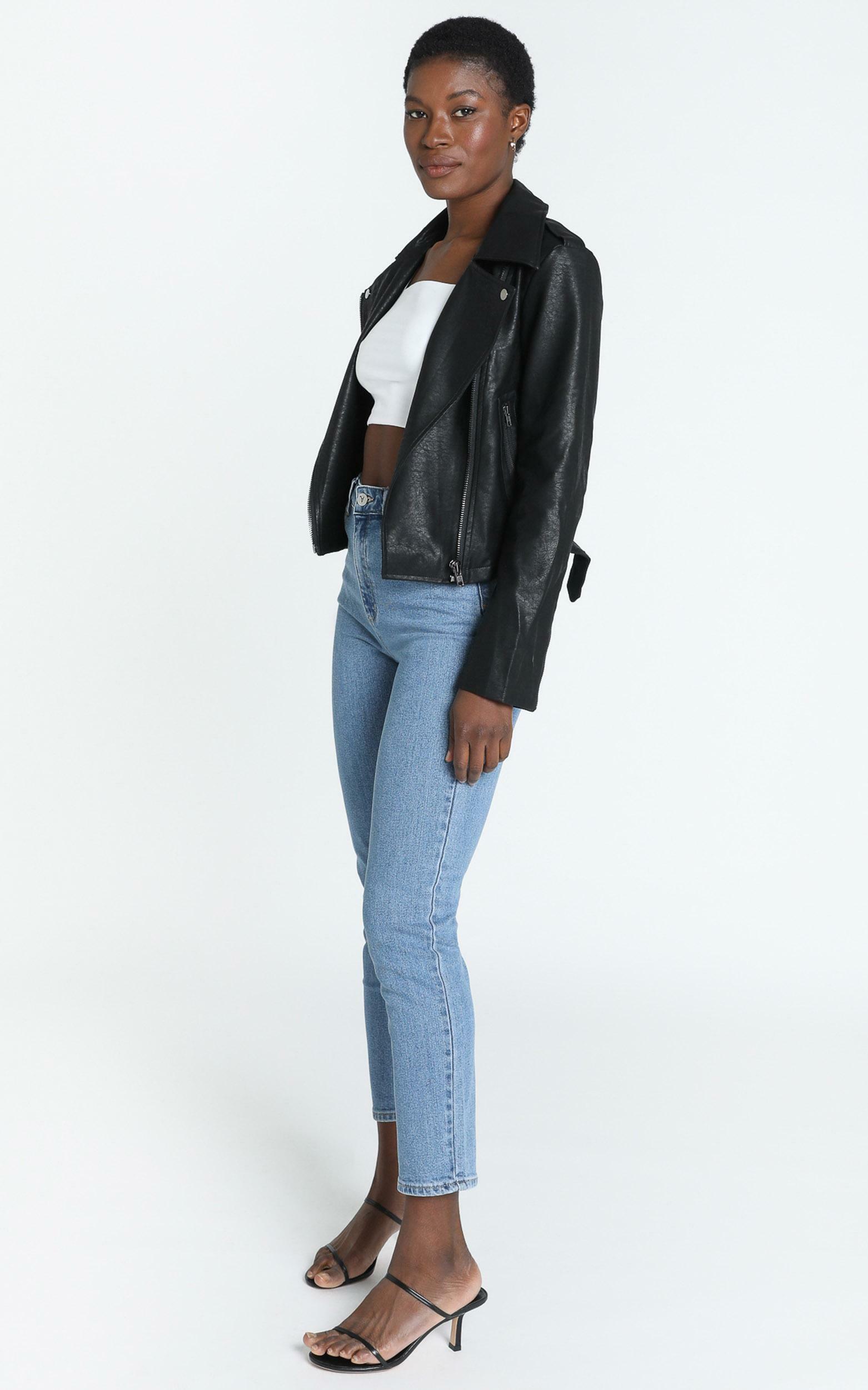 Your Desire Jacket in Black Leatherette - 14 (XL), Black, hi-res image number null
