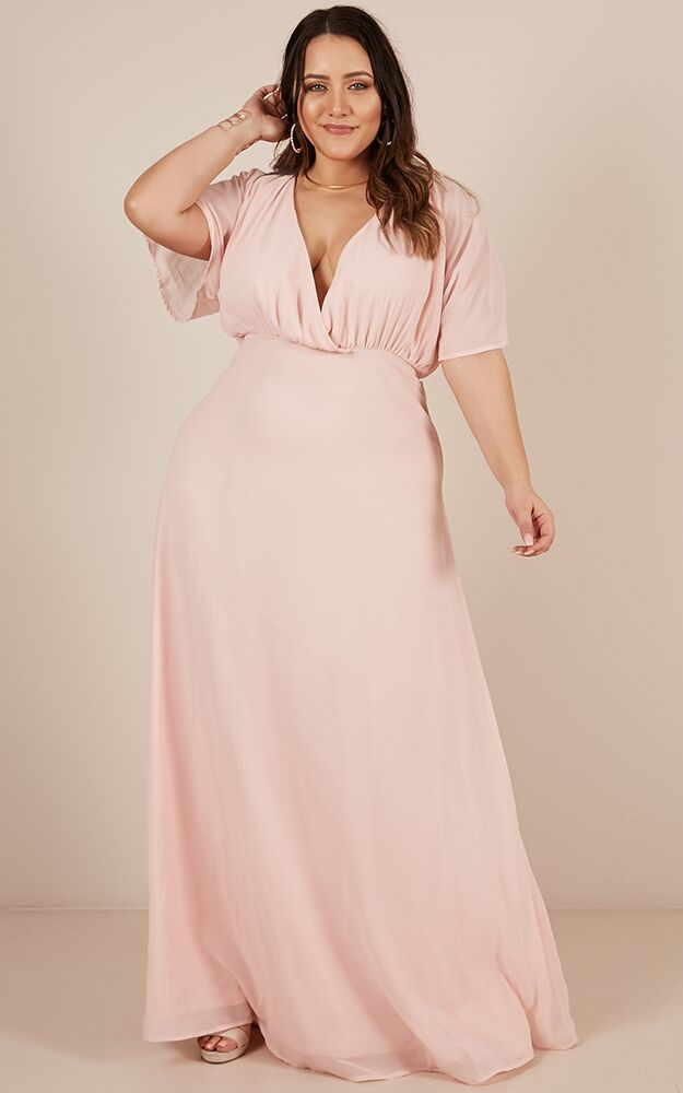 Love Is In The Air Maxi Dress in blush - 20 (XXXXL), Blush, hi-res image number null
