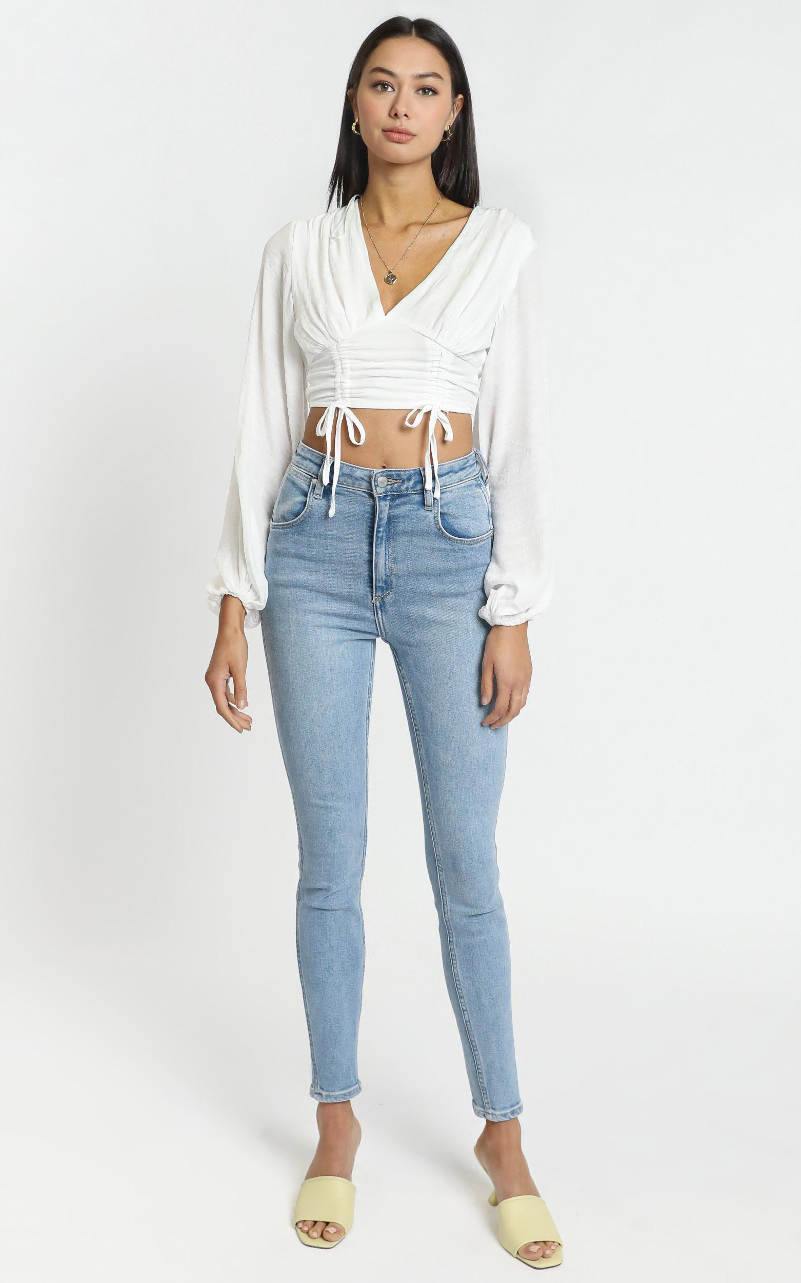 Juliet Top in White - 6 (XS), WHT1, hi-res image number null