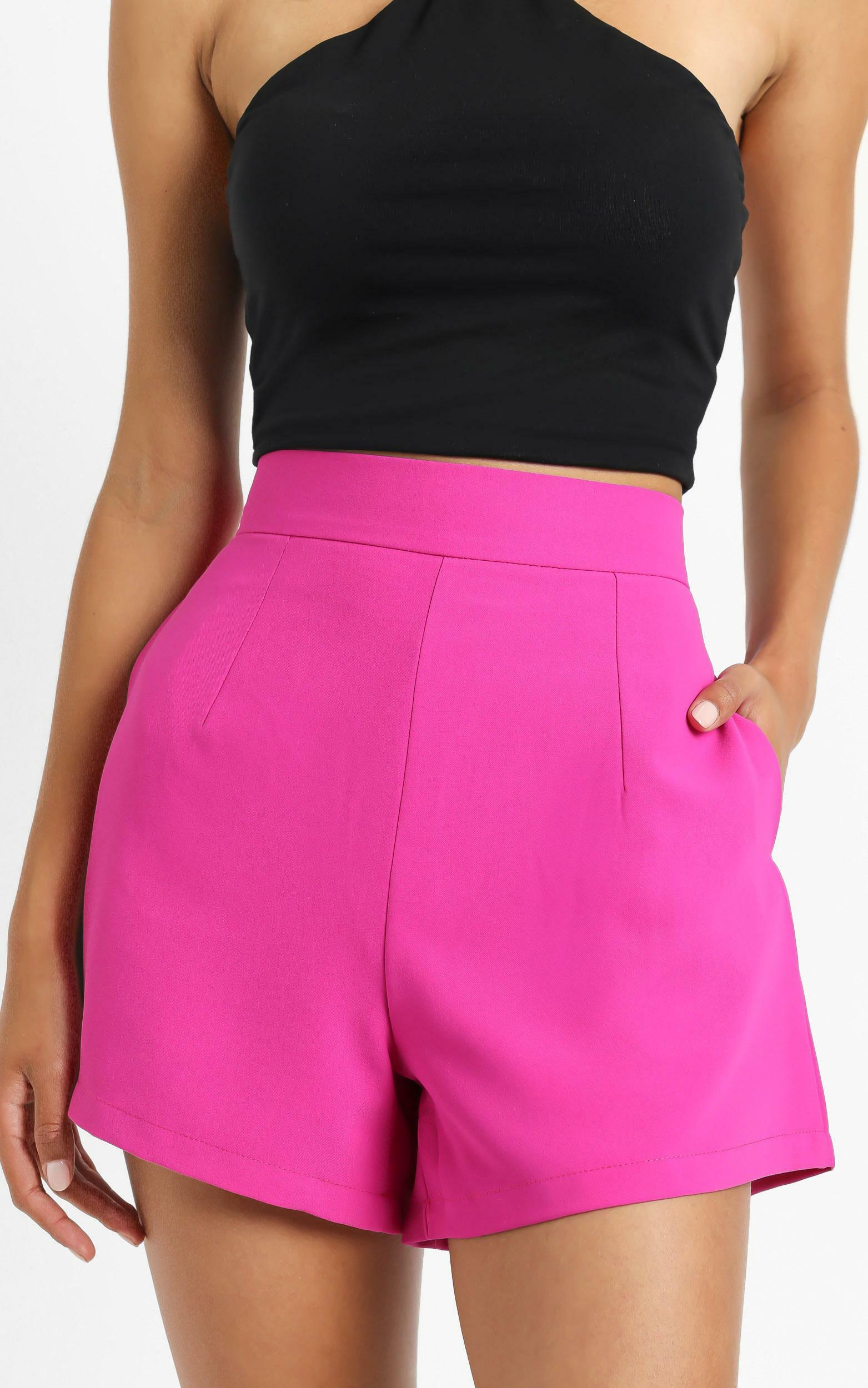 Along The Ride Shorts in Hot Pink - 6 (XS), PNK11, hi-res image number null