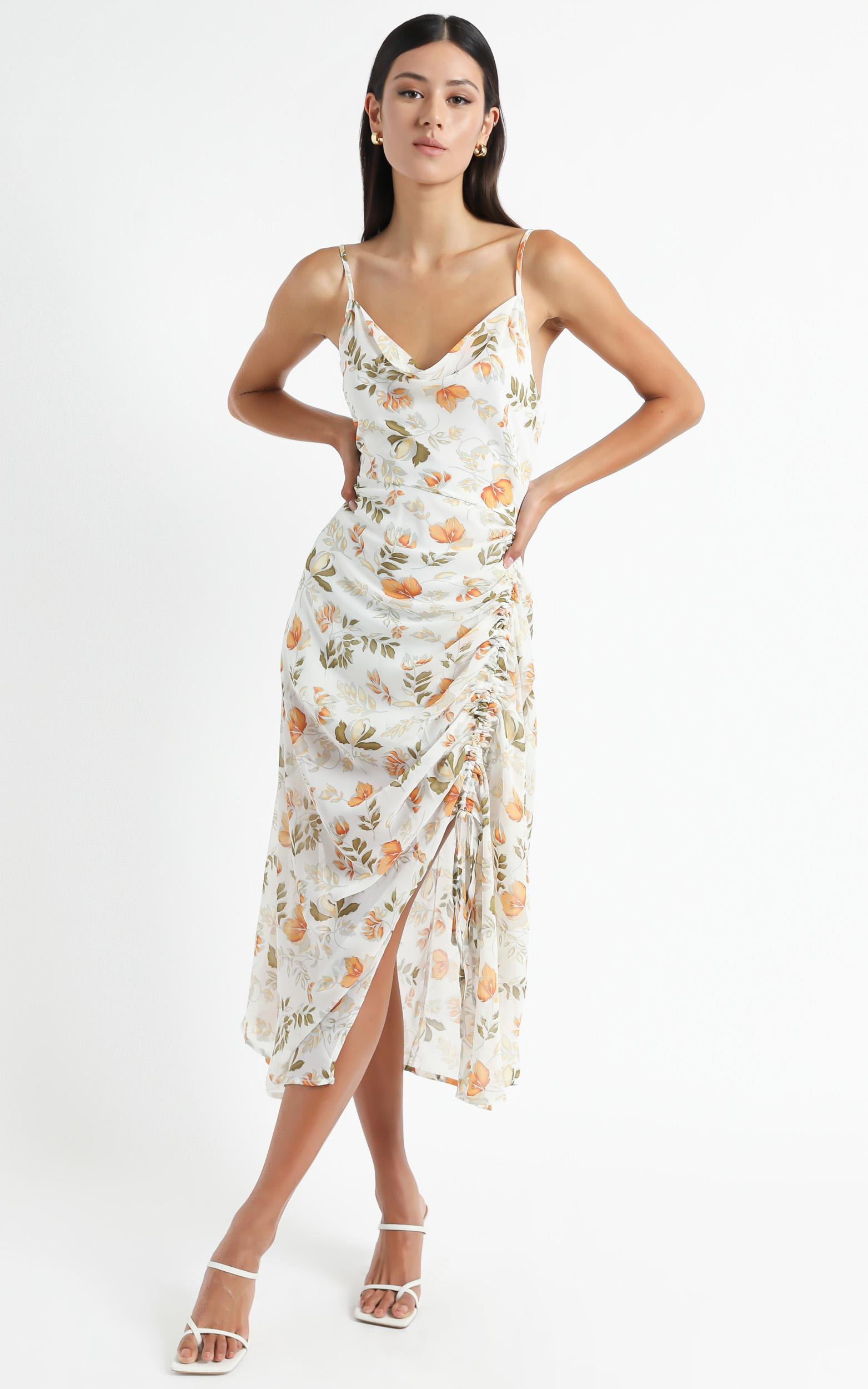 Choosing To Believe dress in white floral - 16 (XXL), White, hi-res image number null