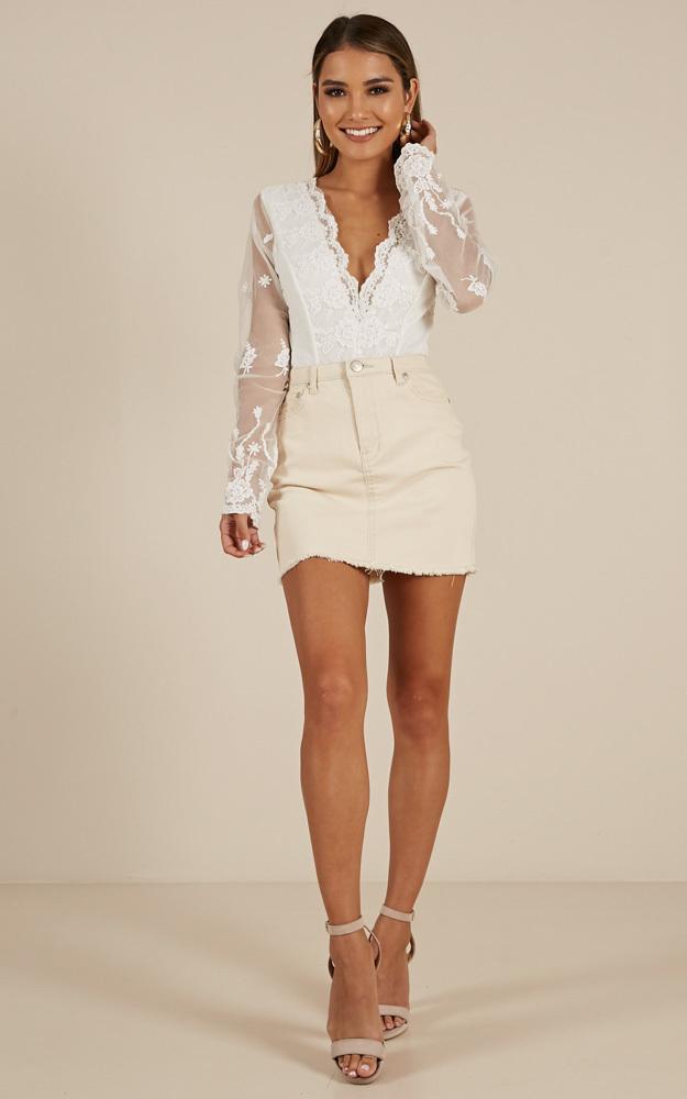 Teatime bodysuit in white - 14 (XL), White, hi-res image number null