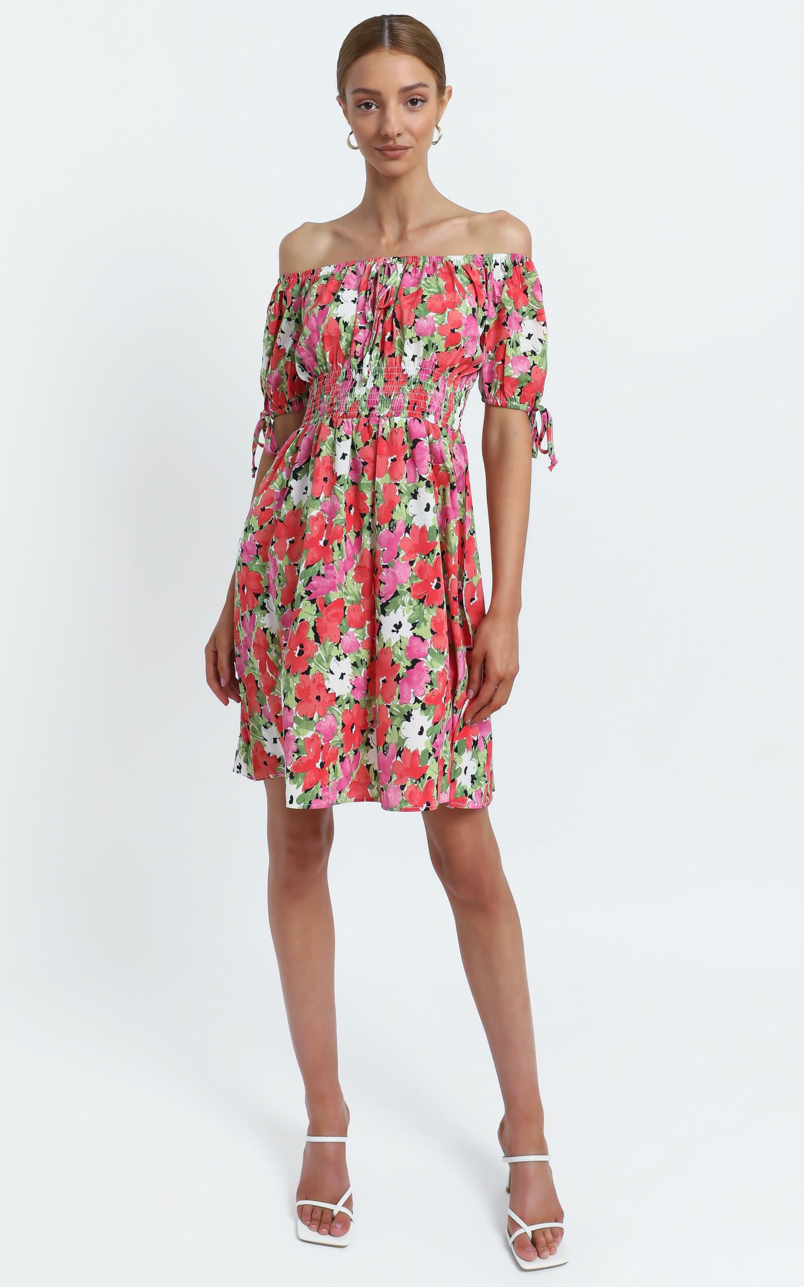 Octavia Dress in Pink Floral - 12 (L), Pink, hi-res image number null