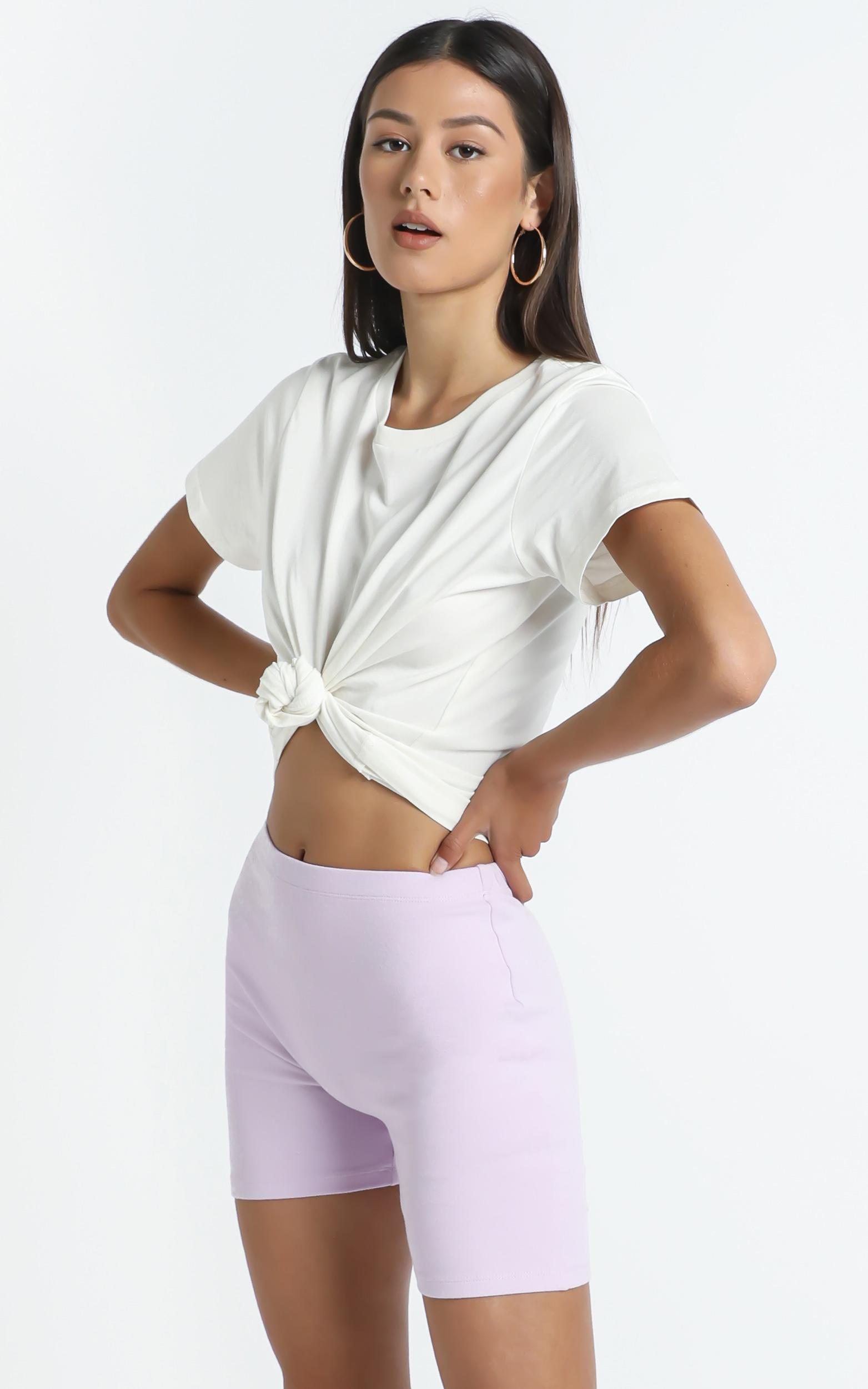 The Quinlan Biker shorts in Lilac - 14 (XL), Purple, hi-res image number null
