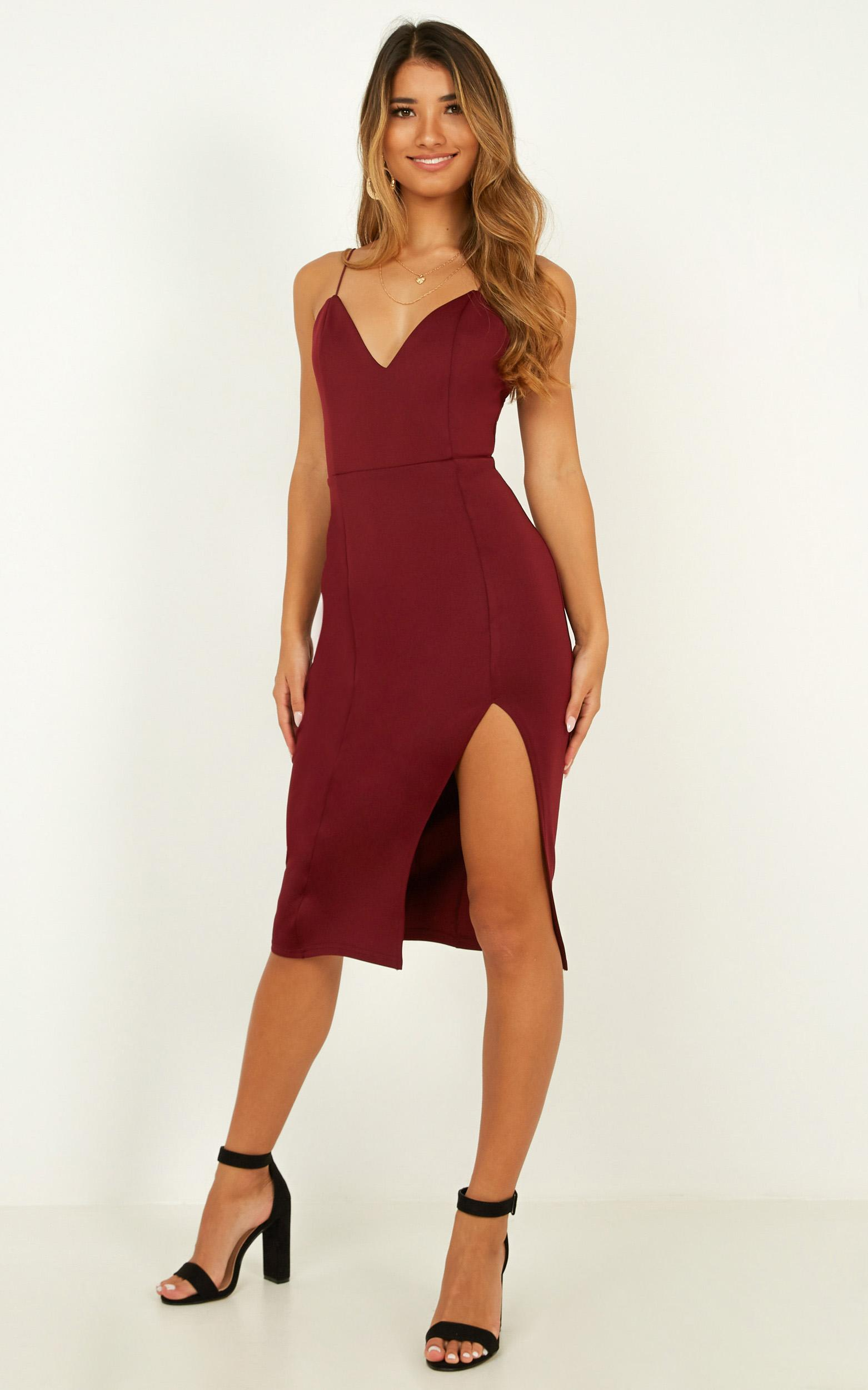 Big Ideas Dress In wine - 4 (XXS), Wine, hi-res image number null