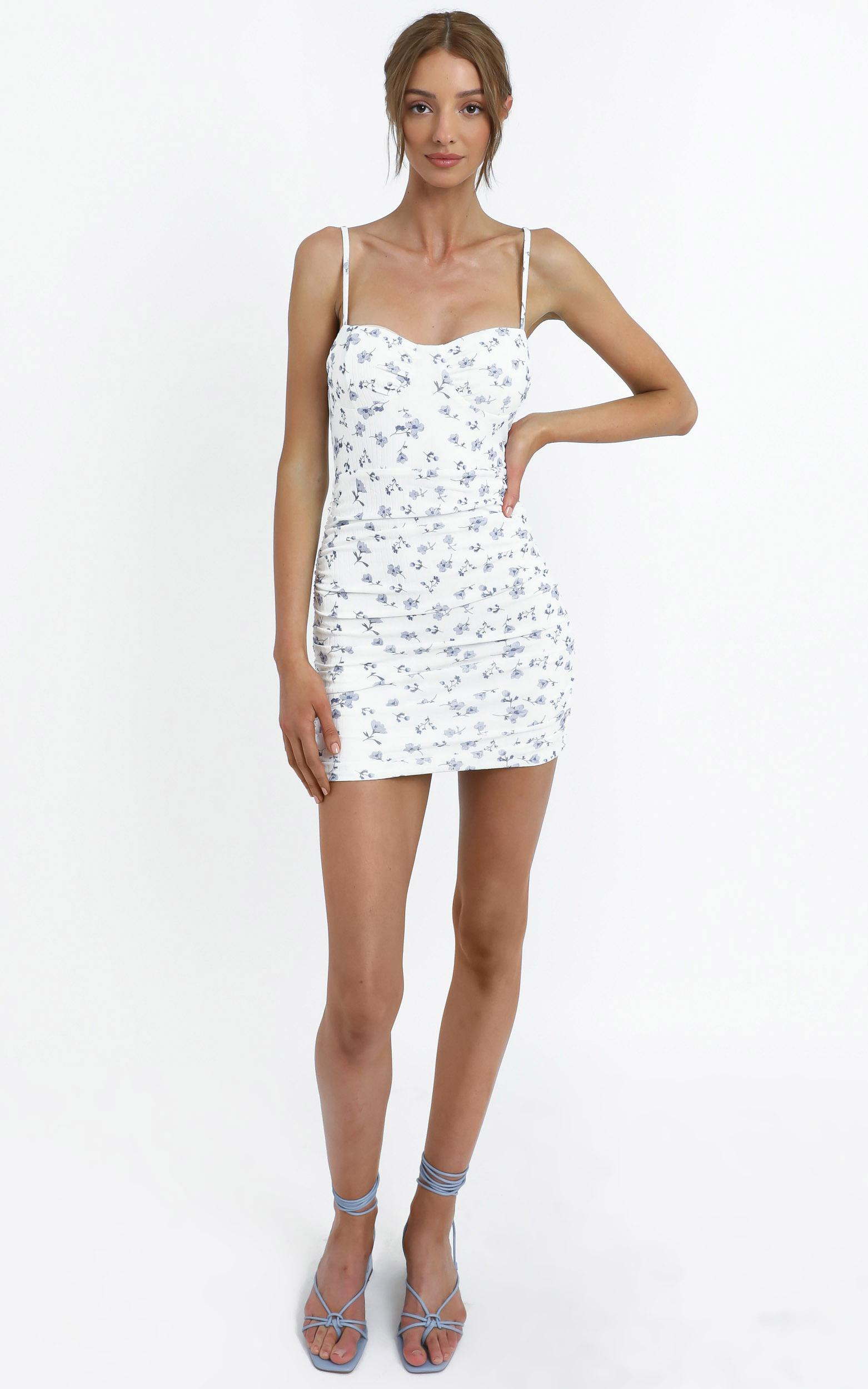 Whitaker Dress in White Floral - 12 (L), White, hi-res image number null
