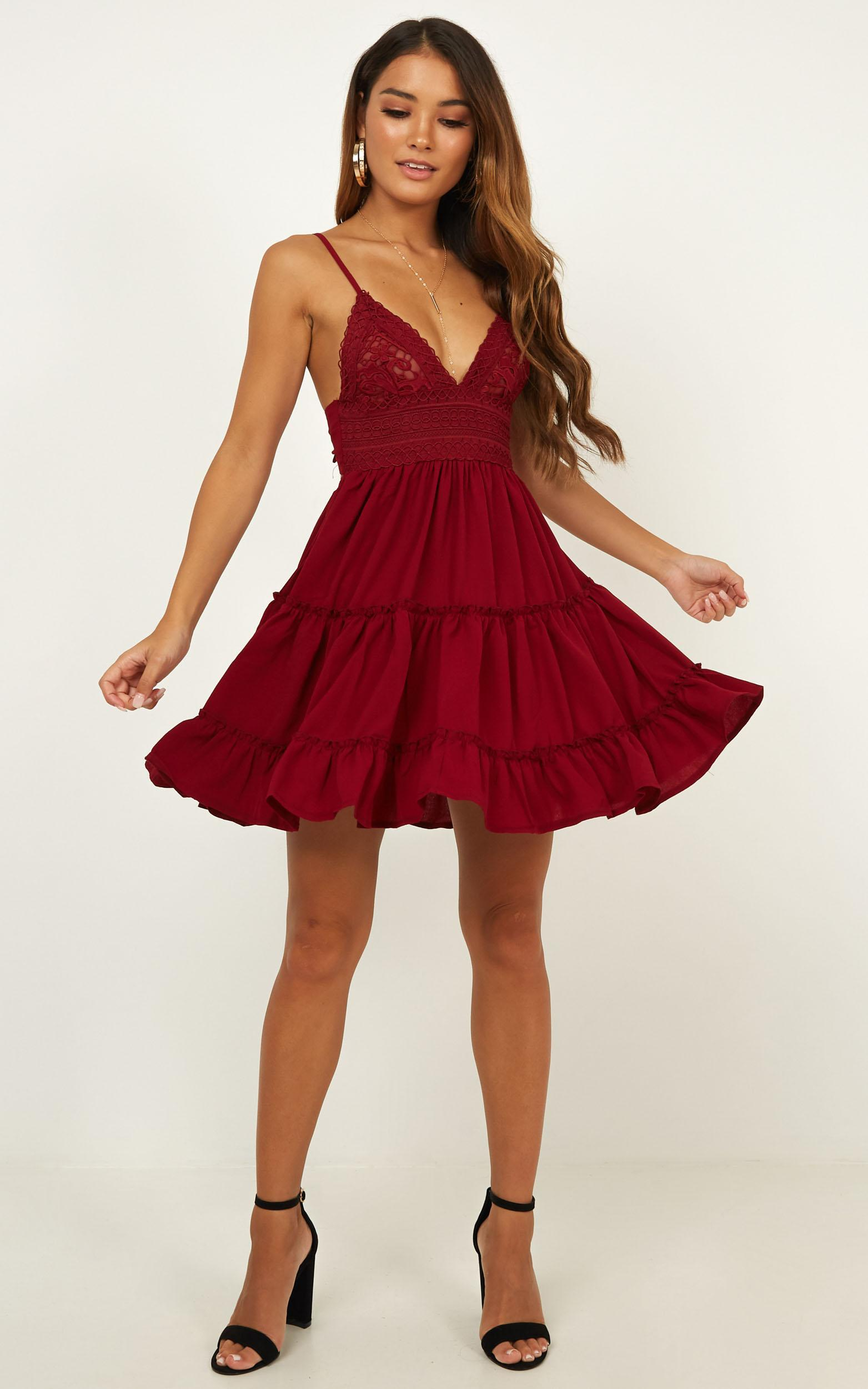 How do you know dress in wine - 14 (XL), Wine, hi-res image number null