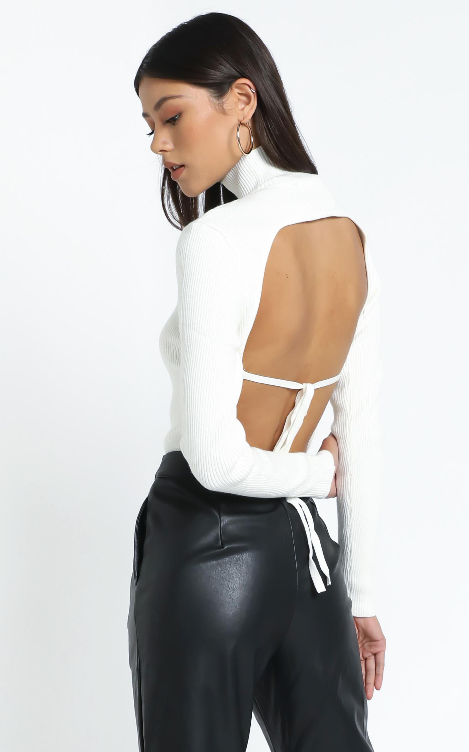 Lioness - Melrose Backless Top in White - 12 (L), White, hi-res image number null