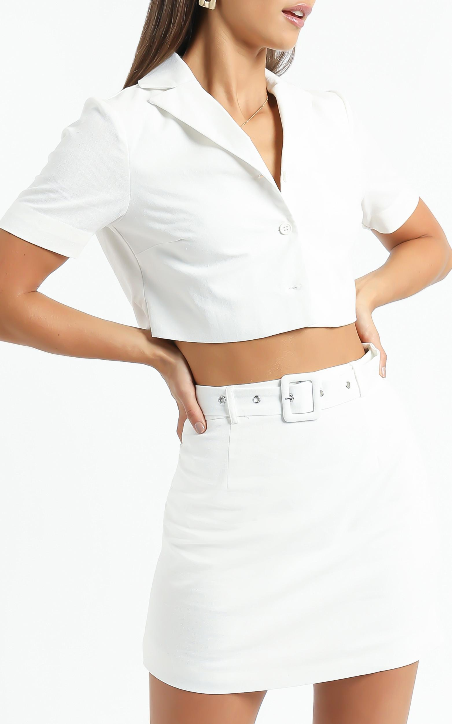 Elie Two Piece Set in White - 6 (XS), White, hi-res image number null