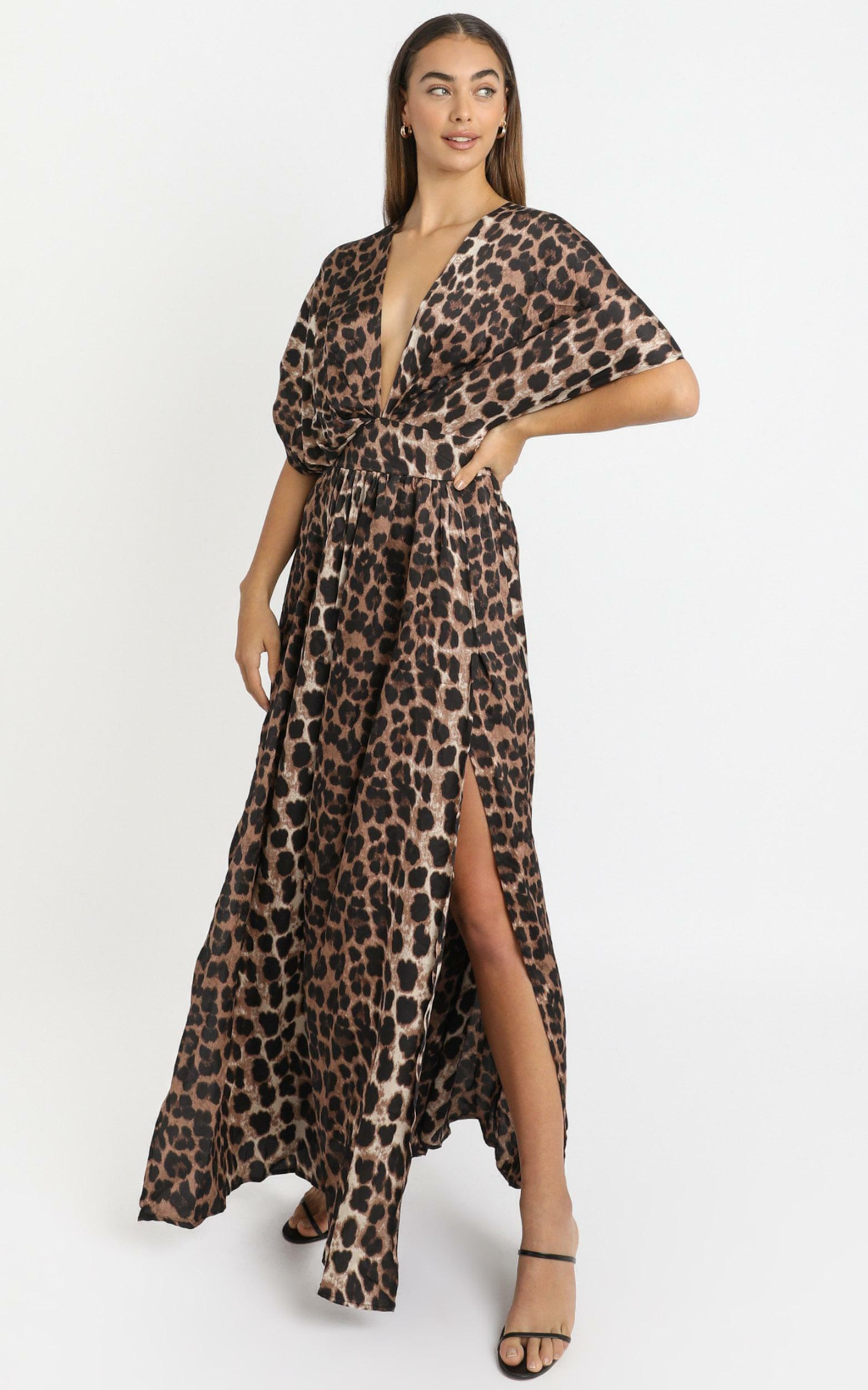 Vacay Ready Maxi Dress in leopard print - 20 (XXXXL), BRN1, hi-res image number null