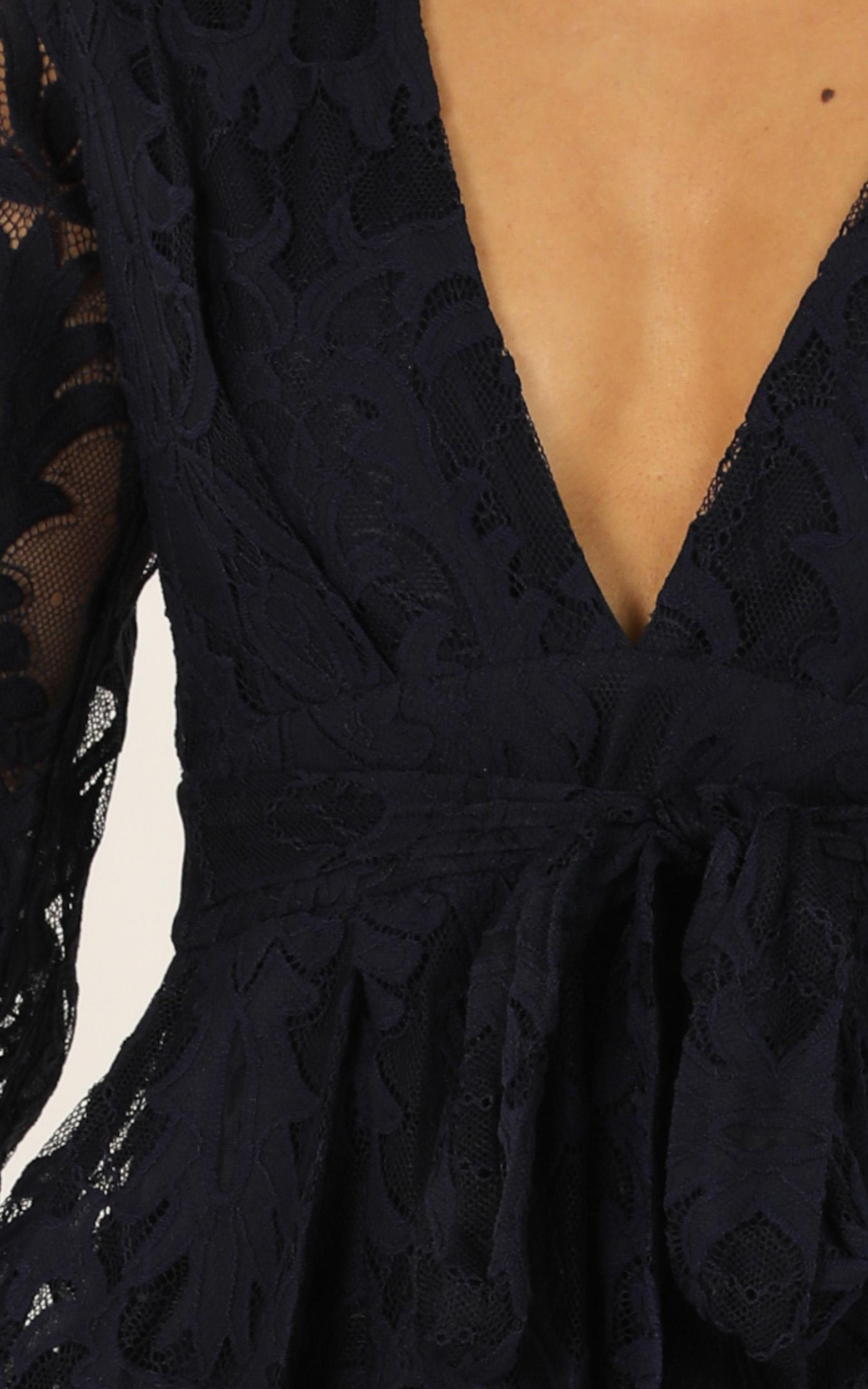 Come Go With Me Playsuit navy lace - 6 (XS), Navy, hi-res image number null