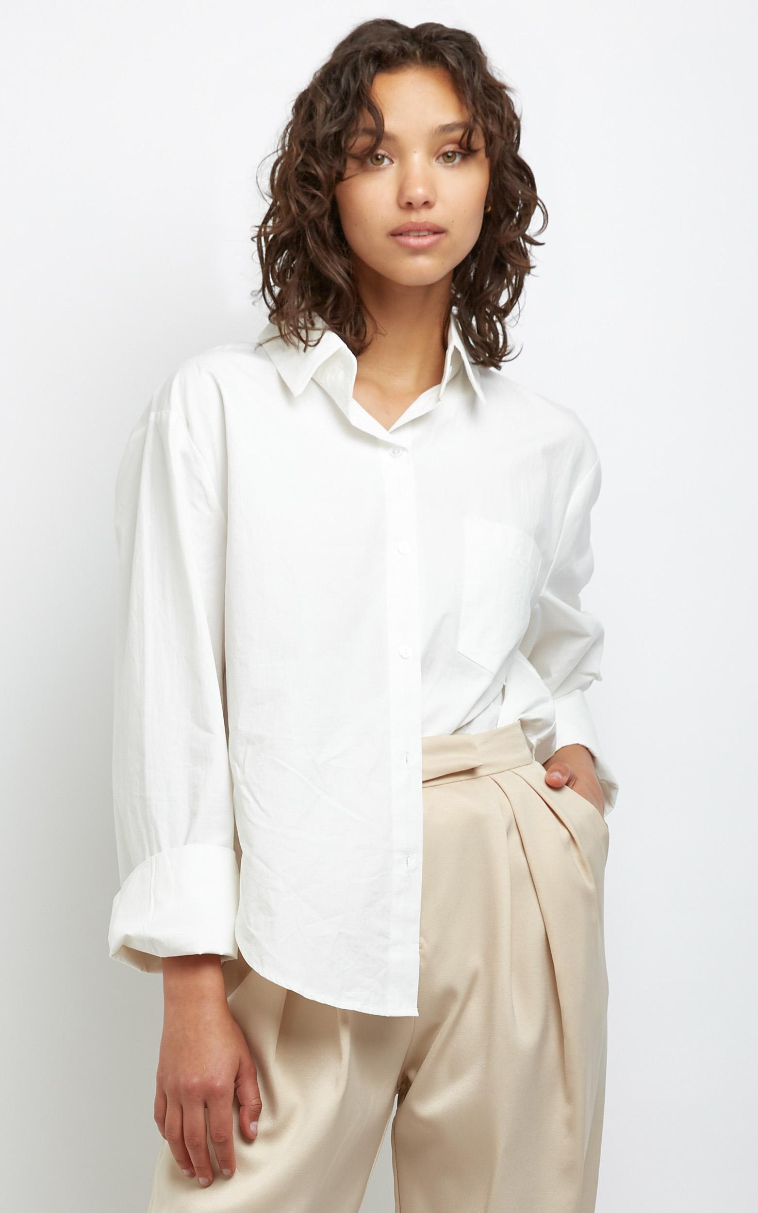 Kinsey Shirt in Off White - M/L, White, hi-res image number null