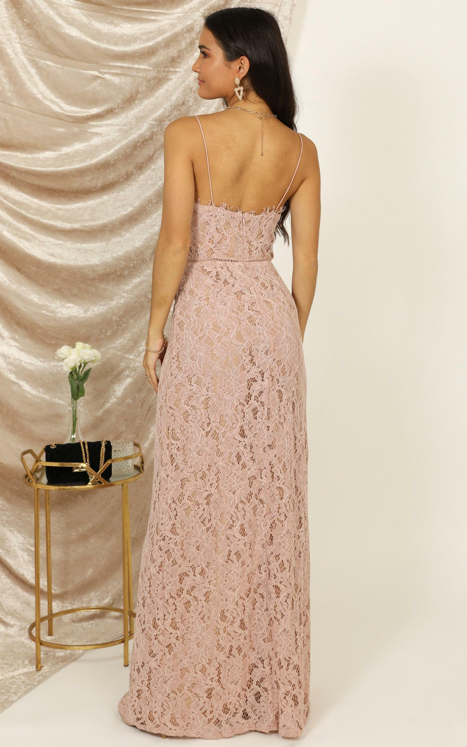 Looking Me Over dress in dusty pink lace - 12 (L), Pink, hi-res image number null