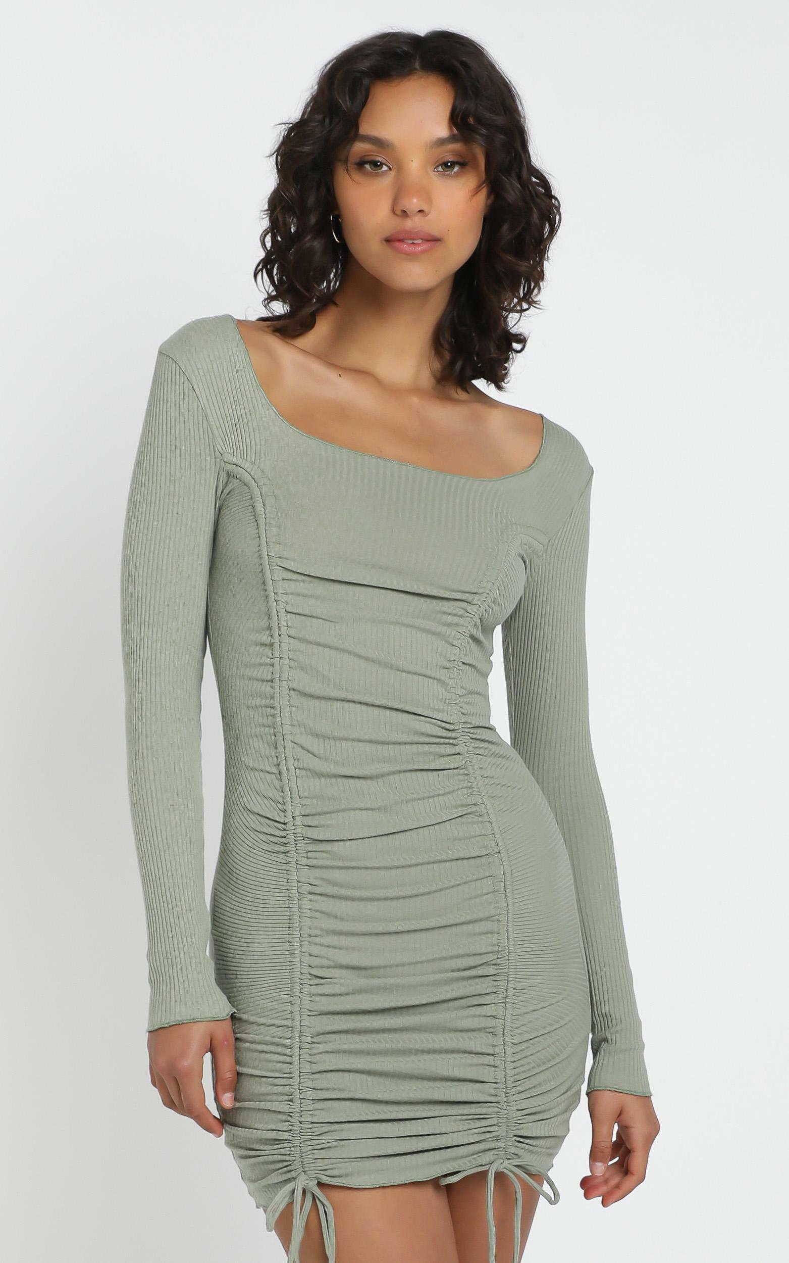 Nina Dress in Khaki - 6 (XS), Khaki, hi-res image number null