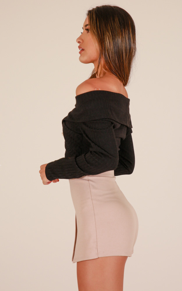 Mellow Out skort in taupe - 12 (L), Taupe, hi-res image number null