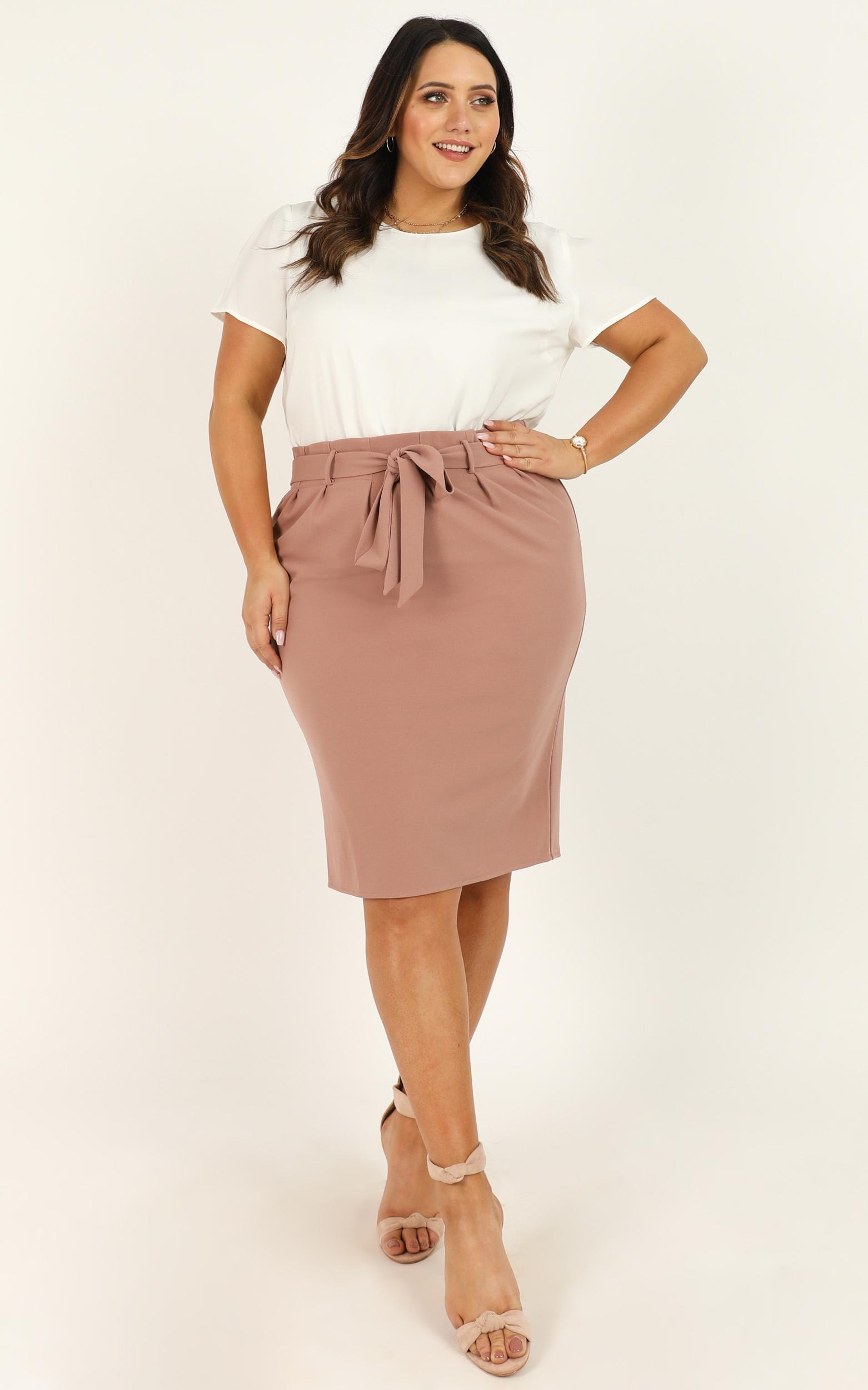 Among Others Skirt in mocha - 20 (XXXXL), Mocha, hi-res image number null