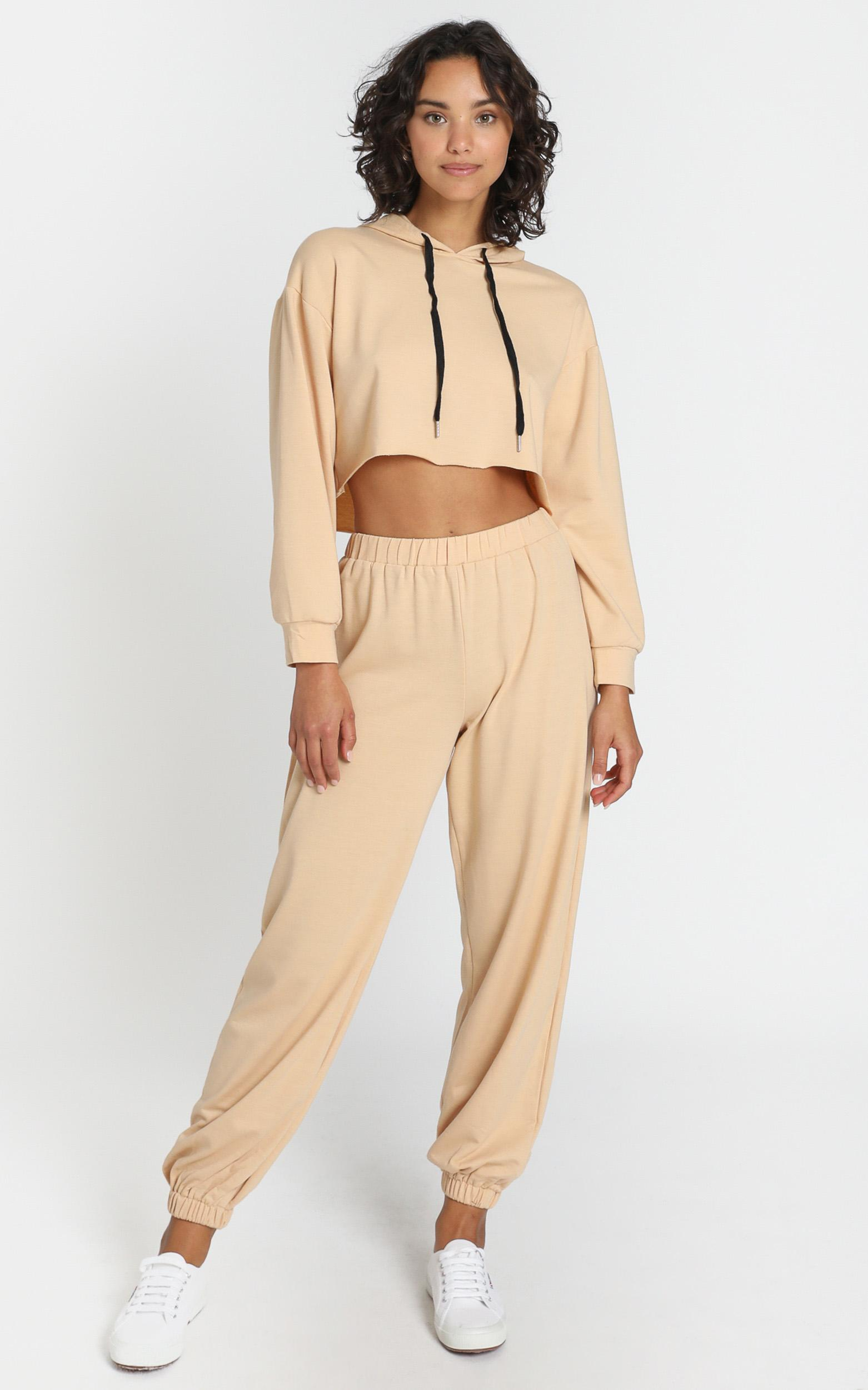 Clovelly Two Piece Set in Beige - 6 (XS), Beige, hi-res image number null