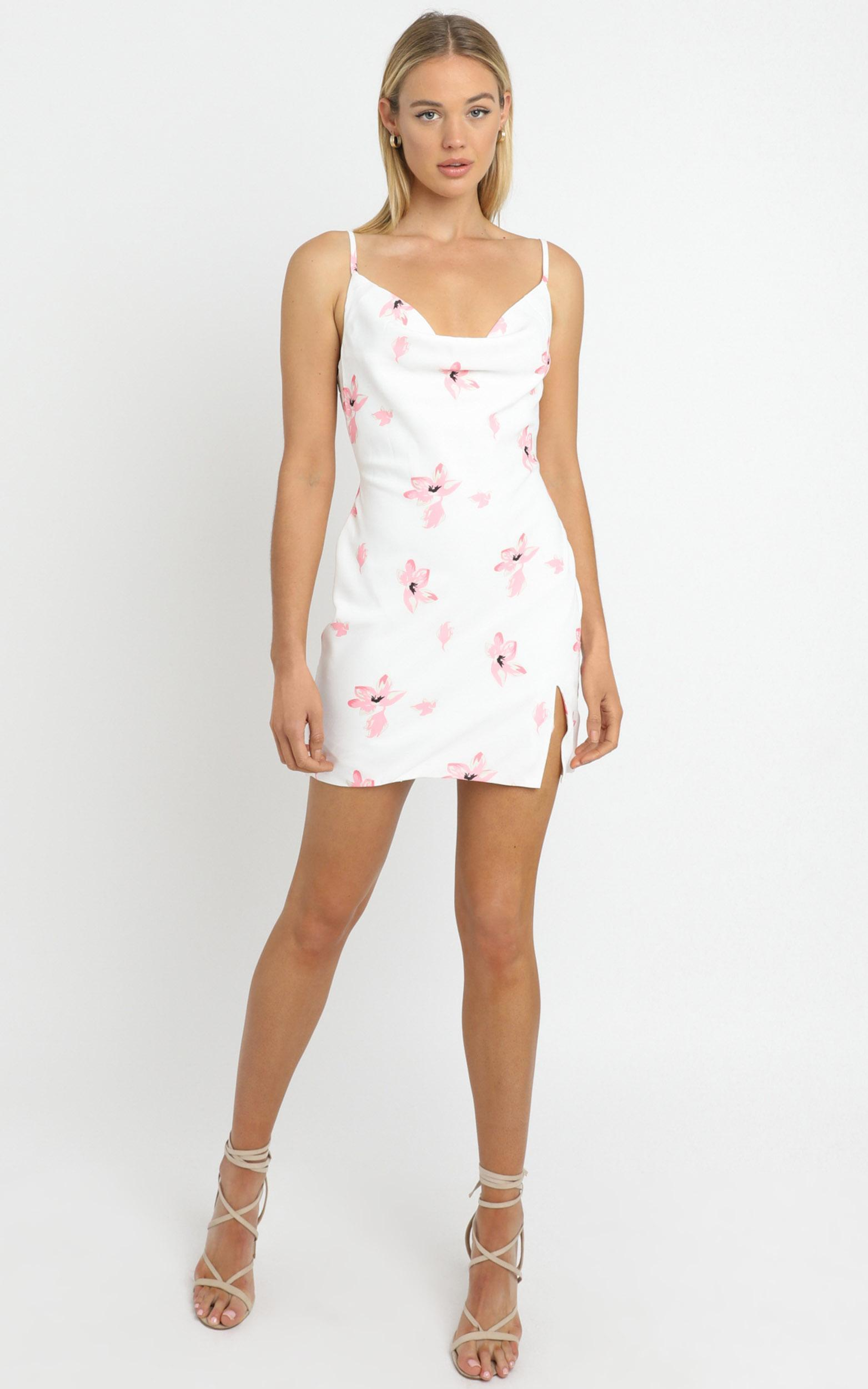 Endless Stories dress in white floral - 6 (XS), White, hi-res image number null