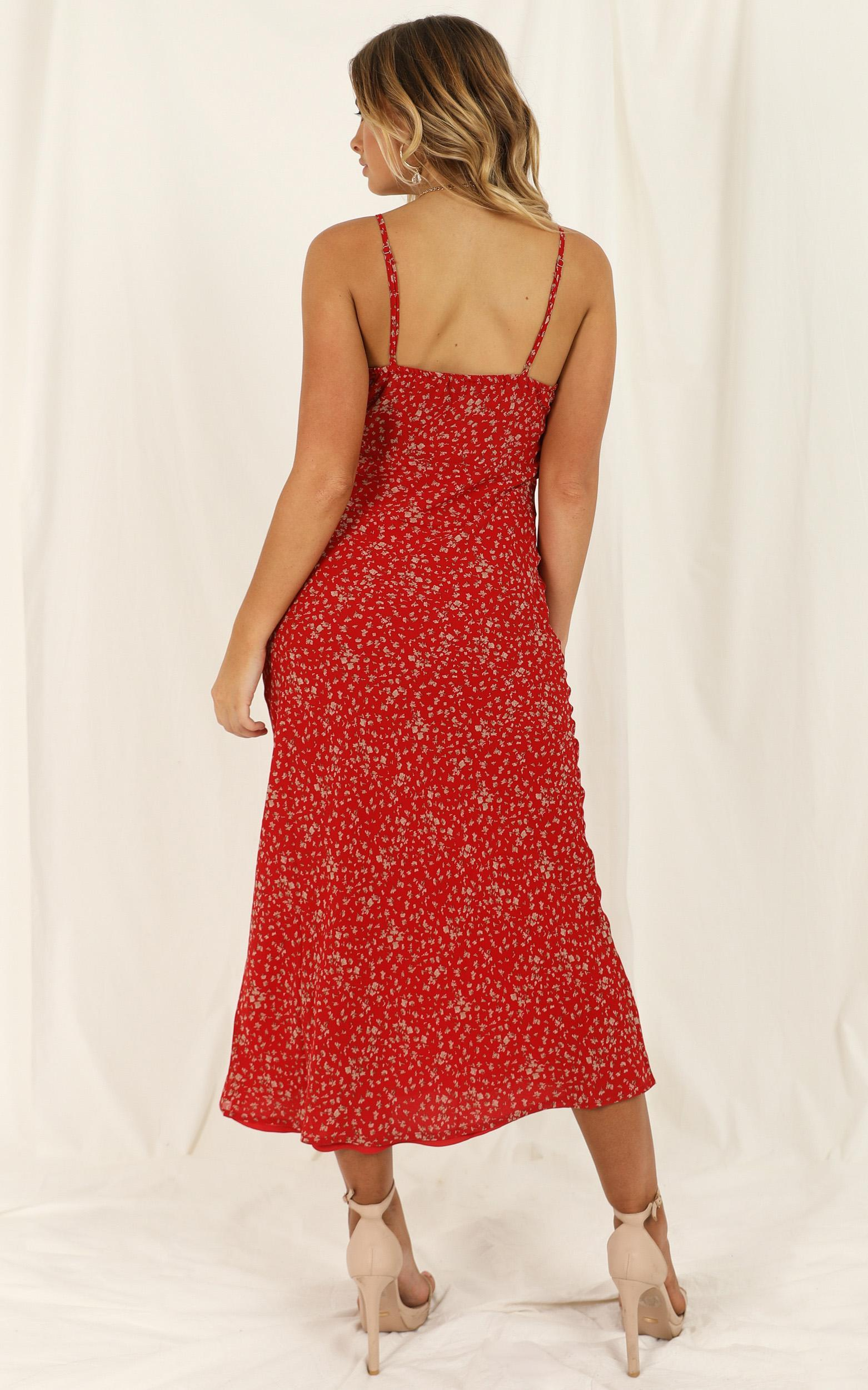 Fashion Memo dress in red floral - 12 (L), Red, hi-res image number null