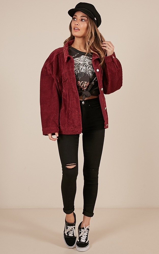 Superstitious jacket in wine - 12 (L), Wine, hi-res image number null