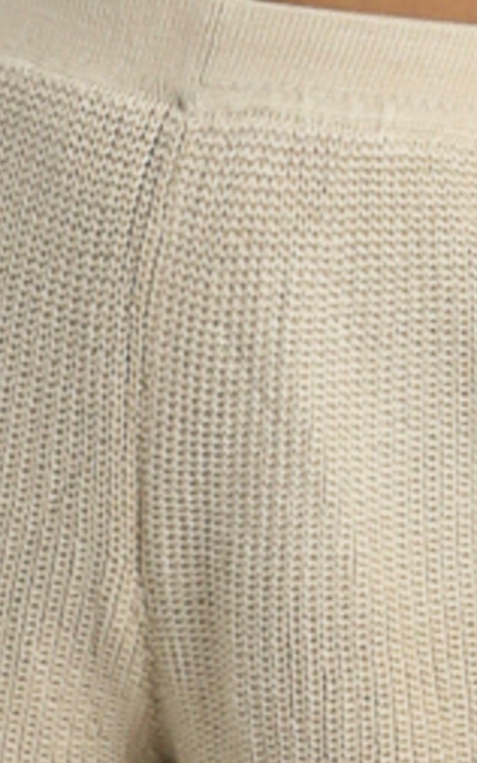 Jacquelyn Knitted Shorts in Beige - 8 (S), Beige, hi-res image number null