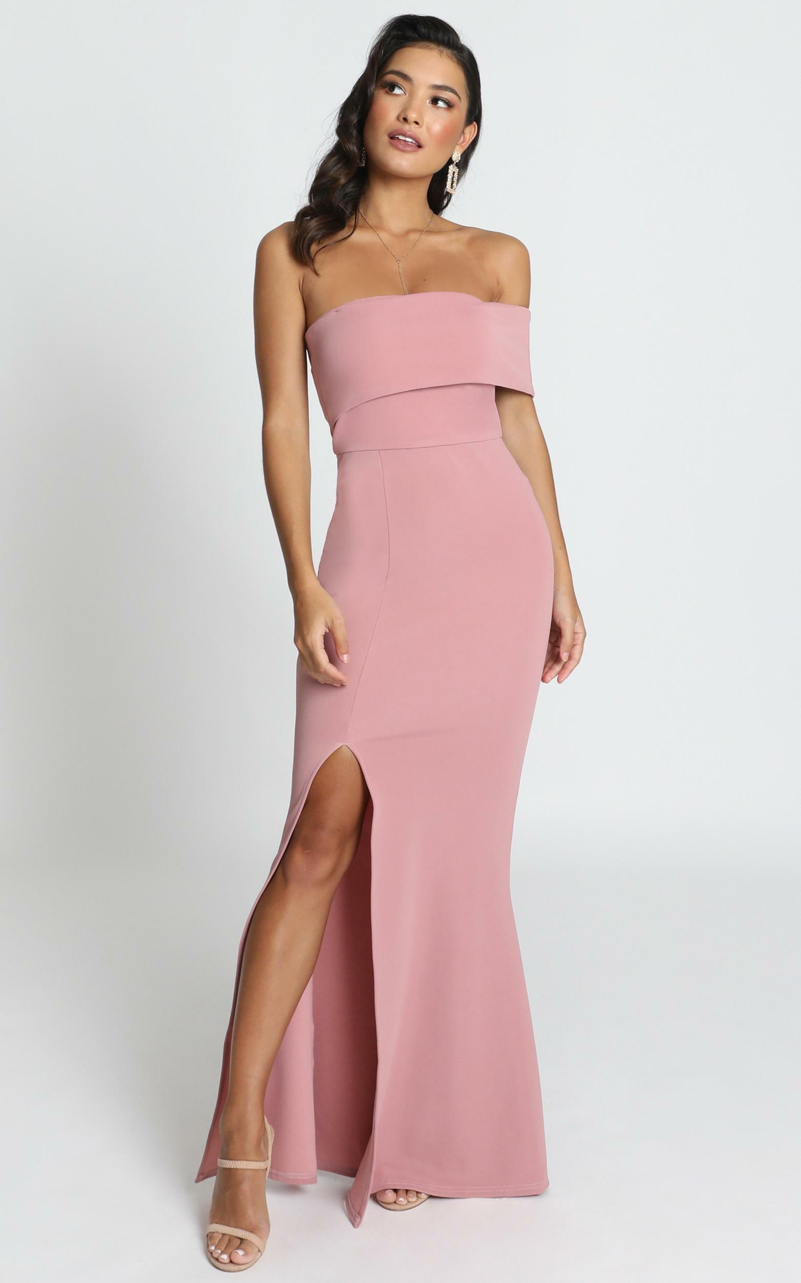 Glamour Girl Maxi Dress in dusty rose - 20 (XXXXL), Pink, hi-res image number null