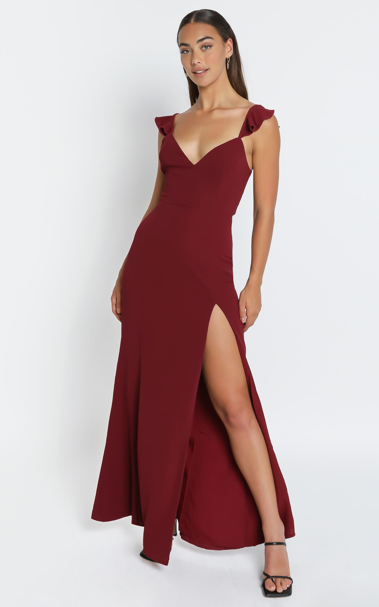 More Than This Dress In Wine - 6 (XS), Wine, hi-res image number null