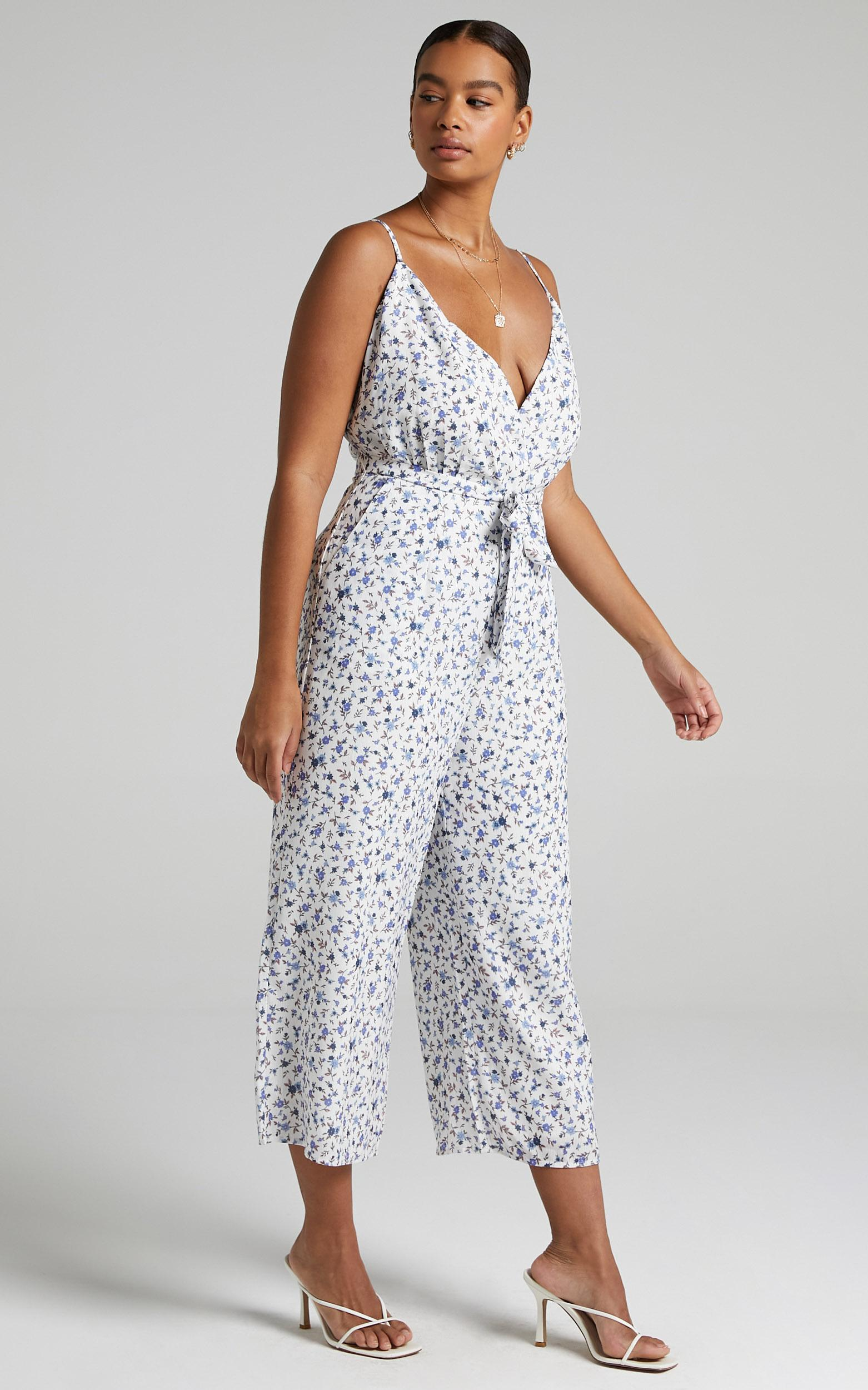 Thought Provoking Jumpsuit in White Floral - 04, WHT2, hi-res image number null