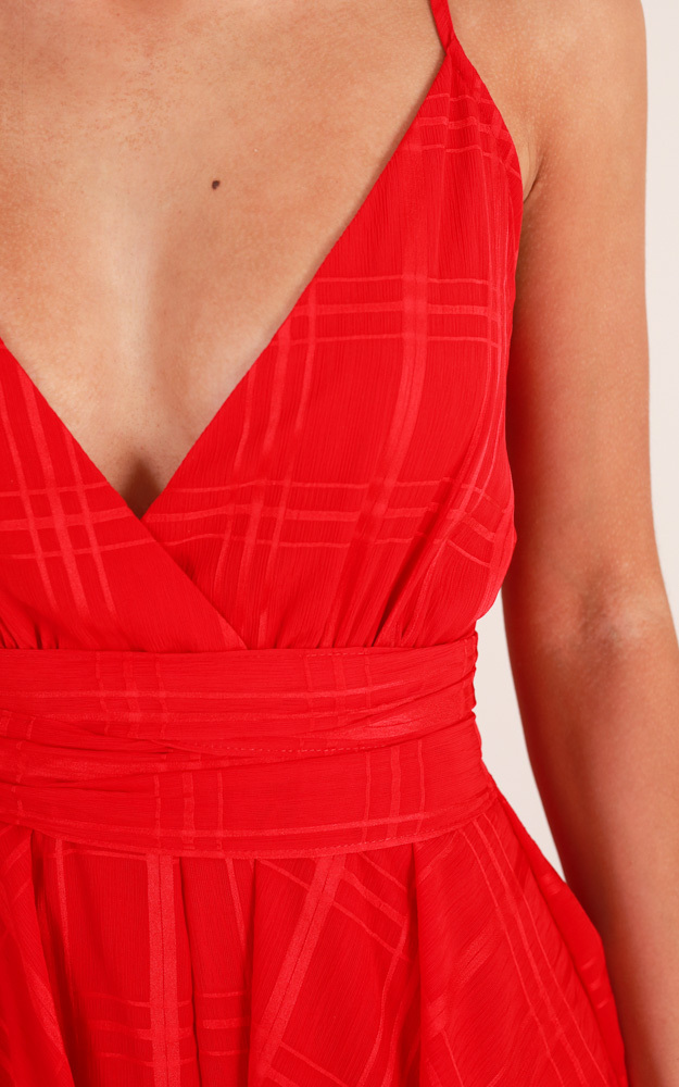 Passing By playsuit in red - 6 (XS), Red, hi-res image number null
