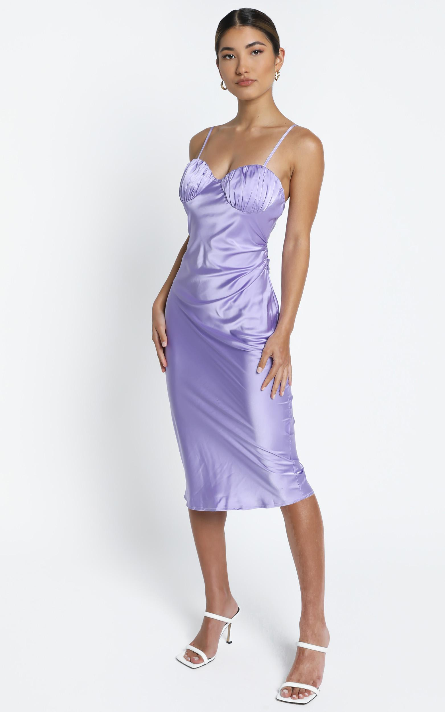 Lisbon Dress in Lilac - 14 (XL), Purple, hi-res image number null
