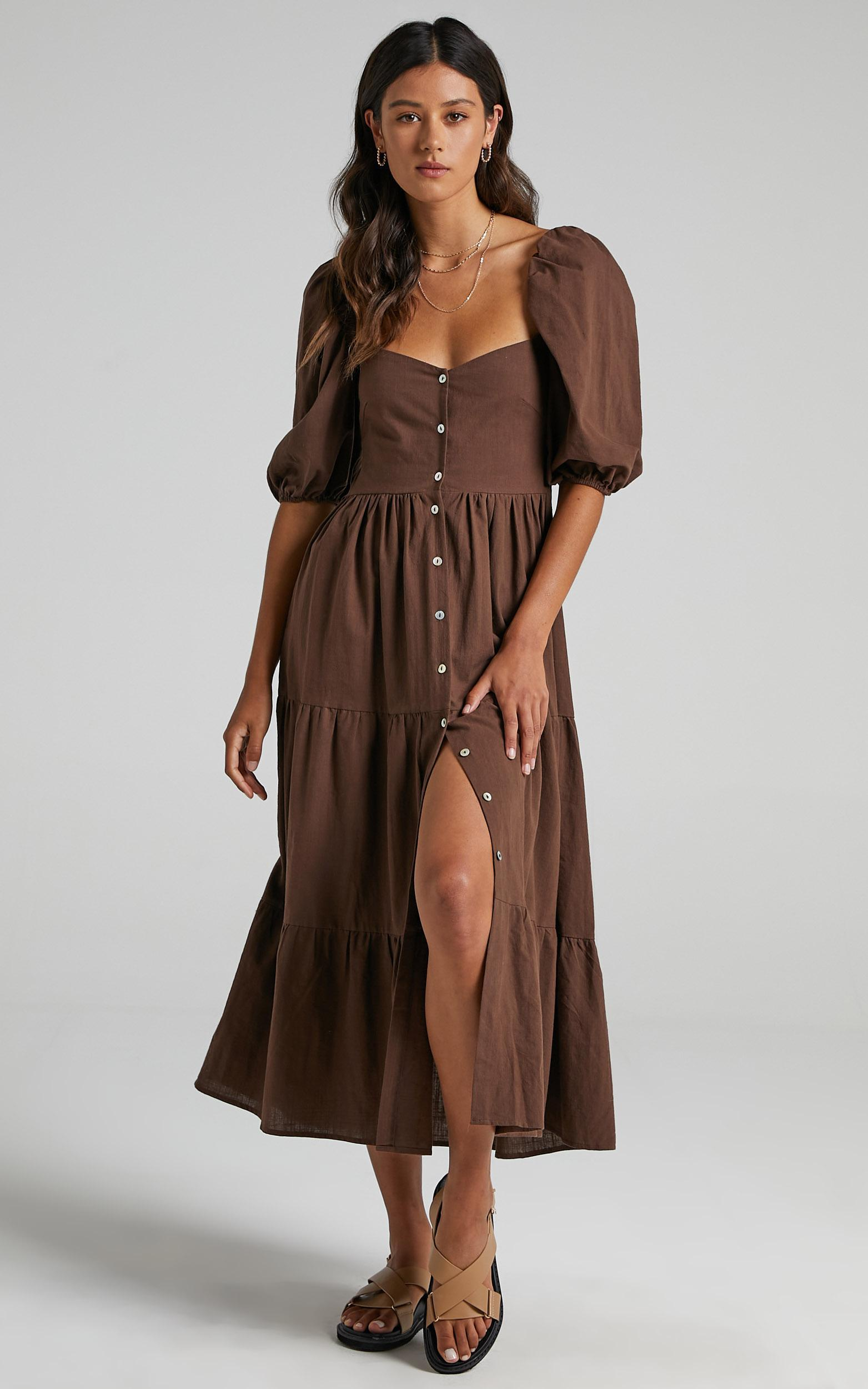 Palmer Dress in Chocolate - 06, BRN1, hi-res image number null