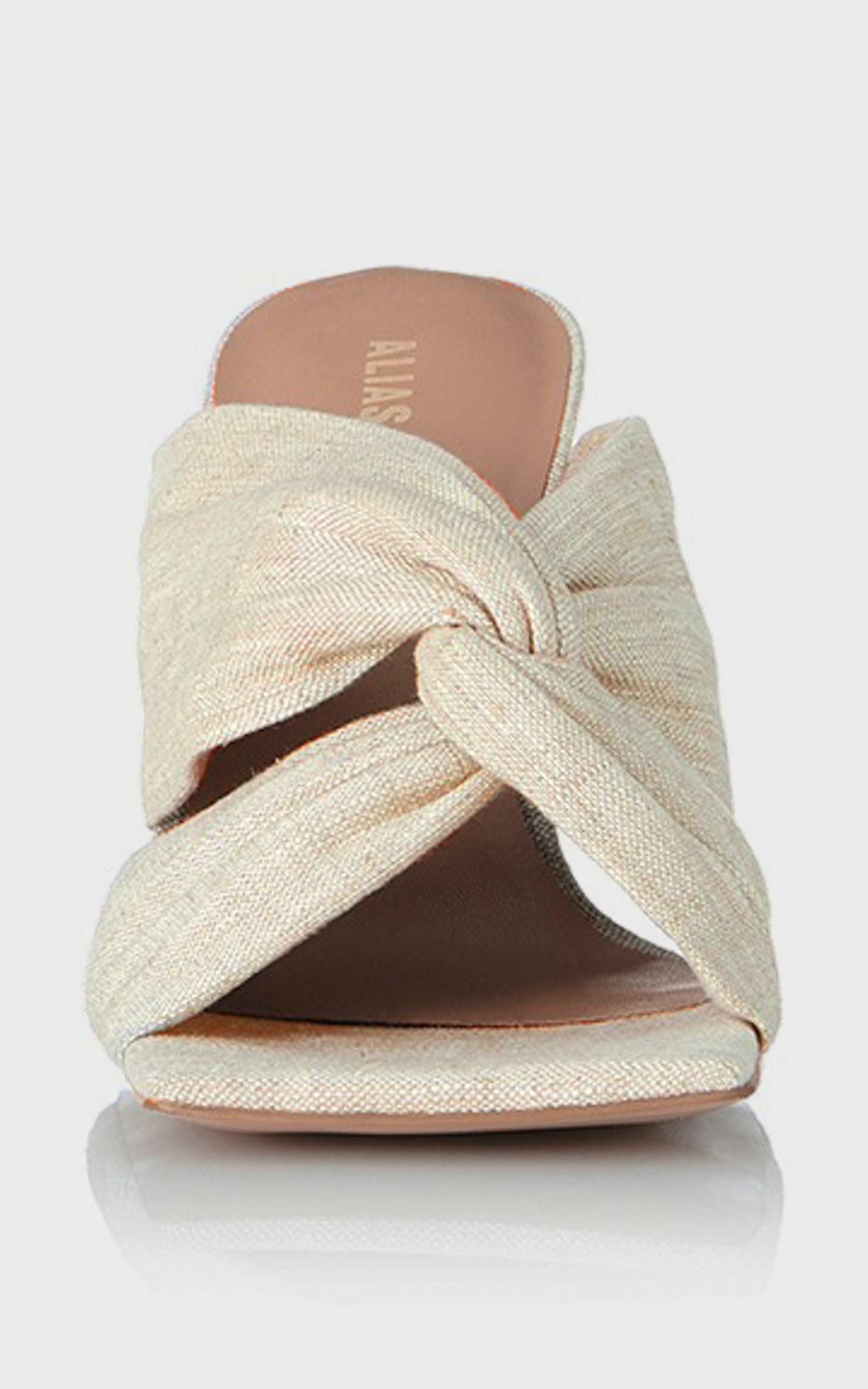 Alias Mae - Flo Heel in Natural Linen - 10.5, Beige, hi-res image number null