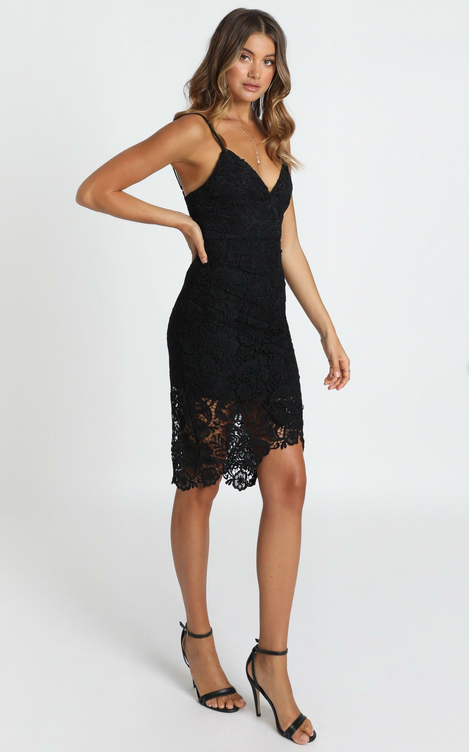 Typical Lover Dress In black lace - 20 (XXXXL), Black, hi-res image number null