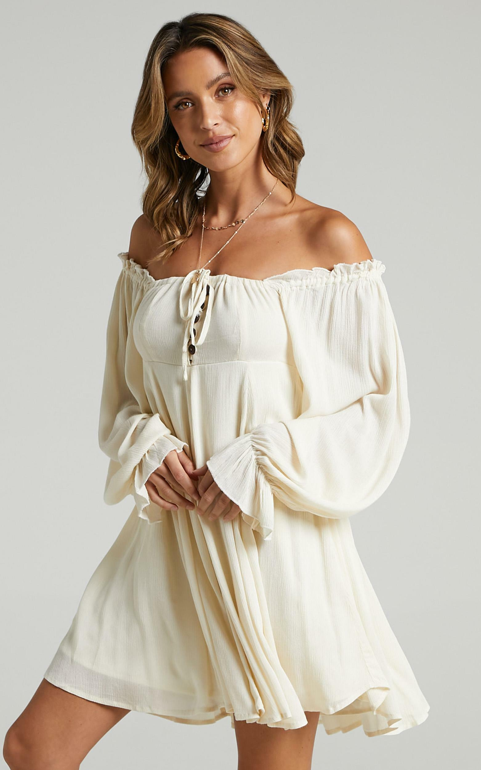 Gypsy Soul Dress in cream - 6 (XS), Cream, hi-res image number null